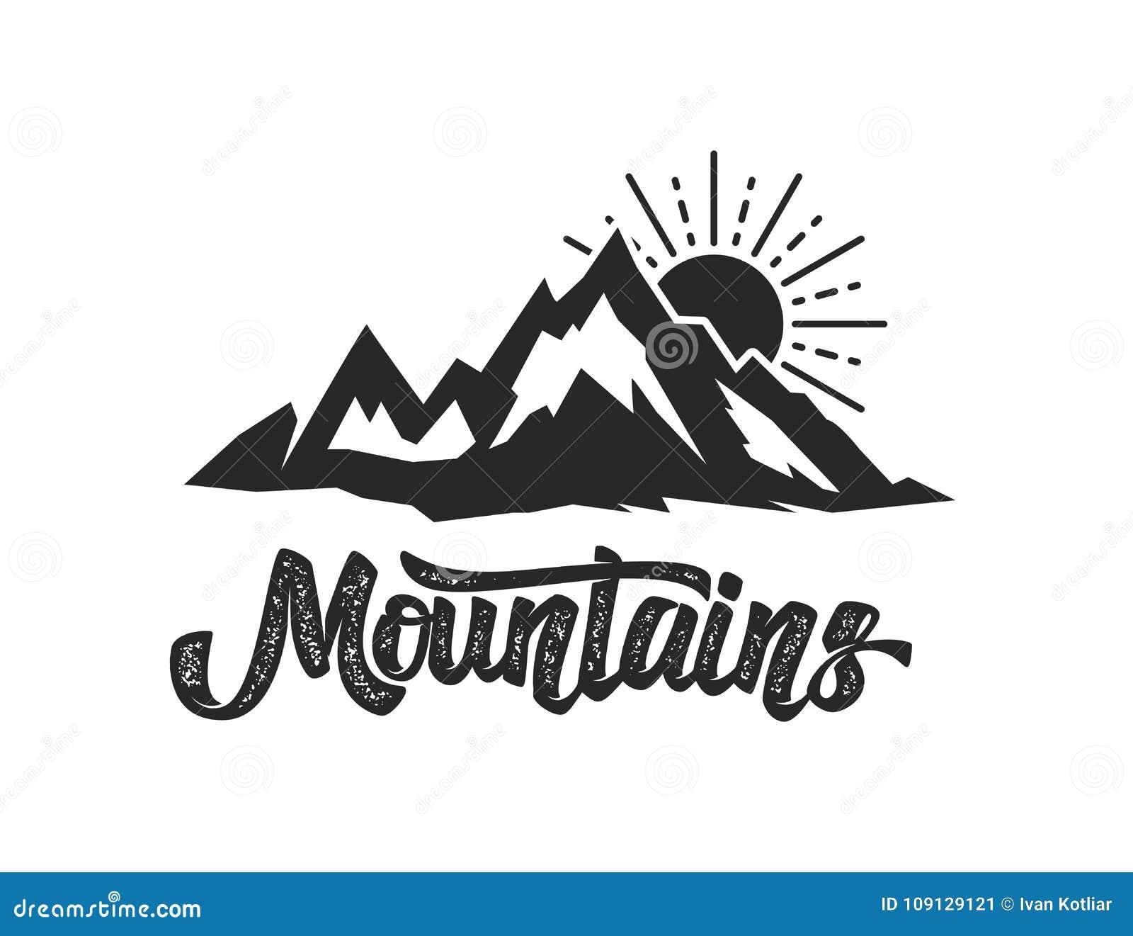 Plantilla Del Emblema Del Campo De La Montaña Diseñe El Elemento ...