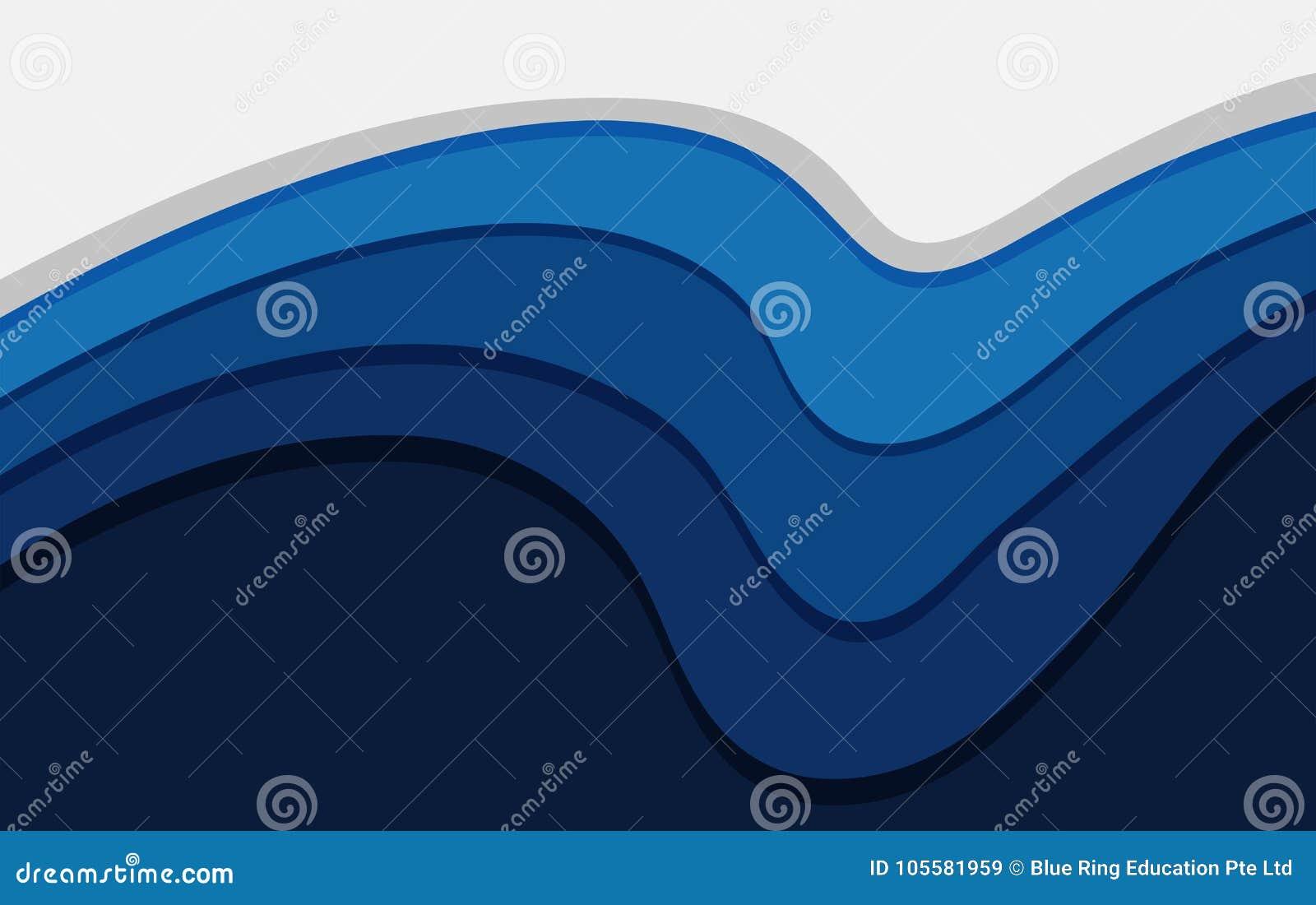 Fondo Azul Con Lineas Onduladas Fondos T