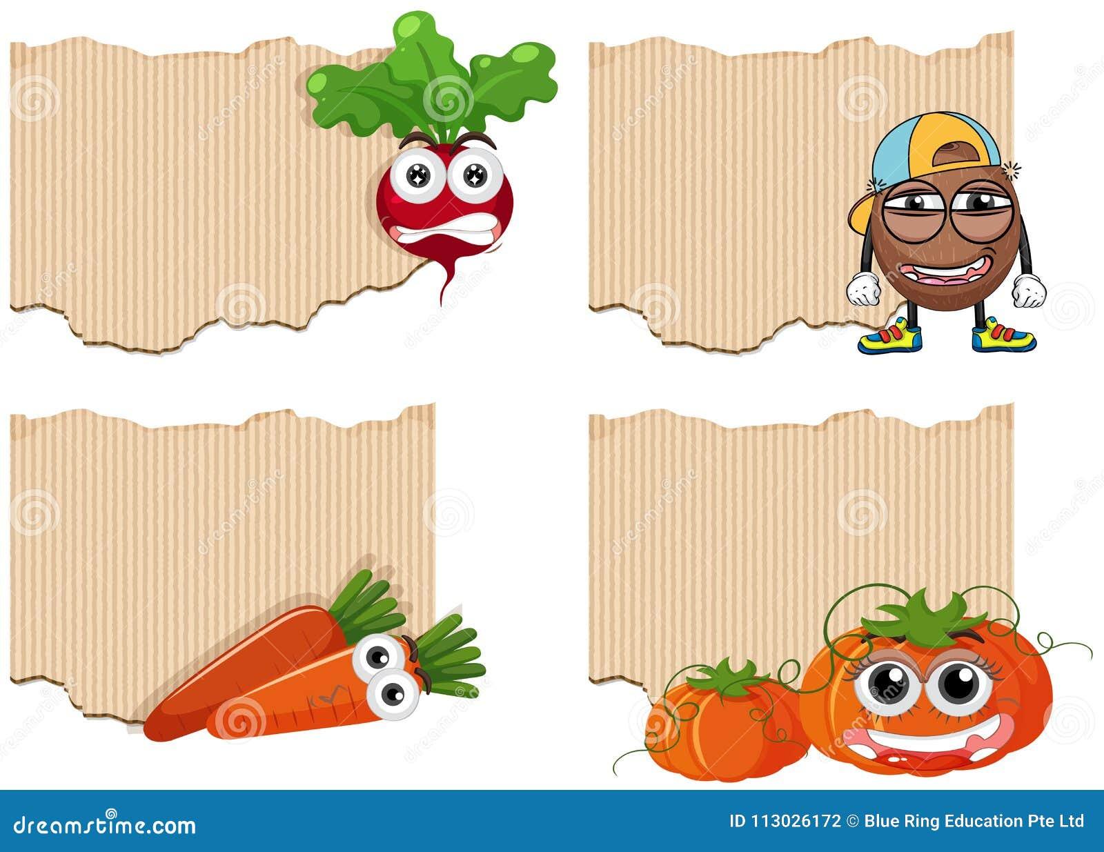 Plantilla del fondo con las verduras frescas