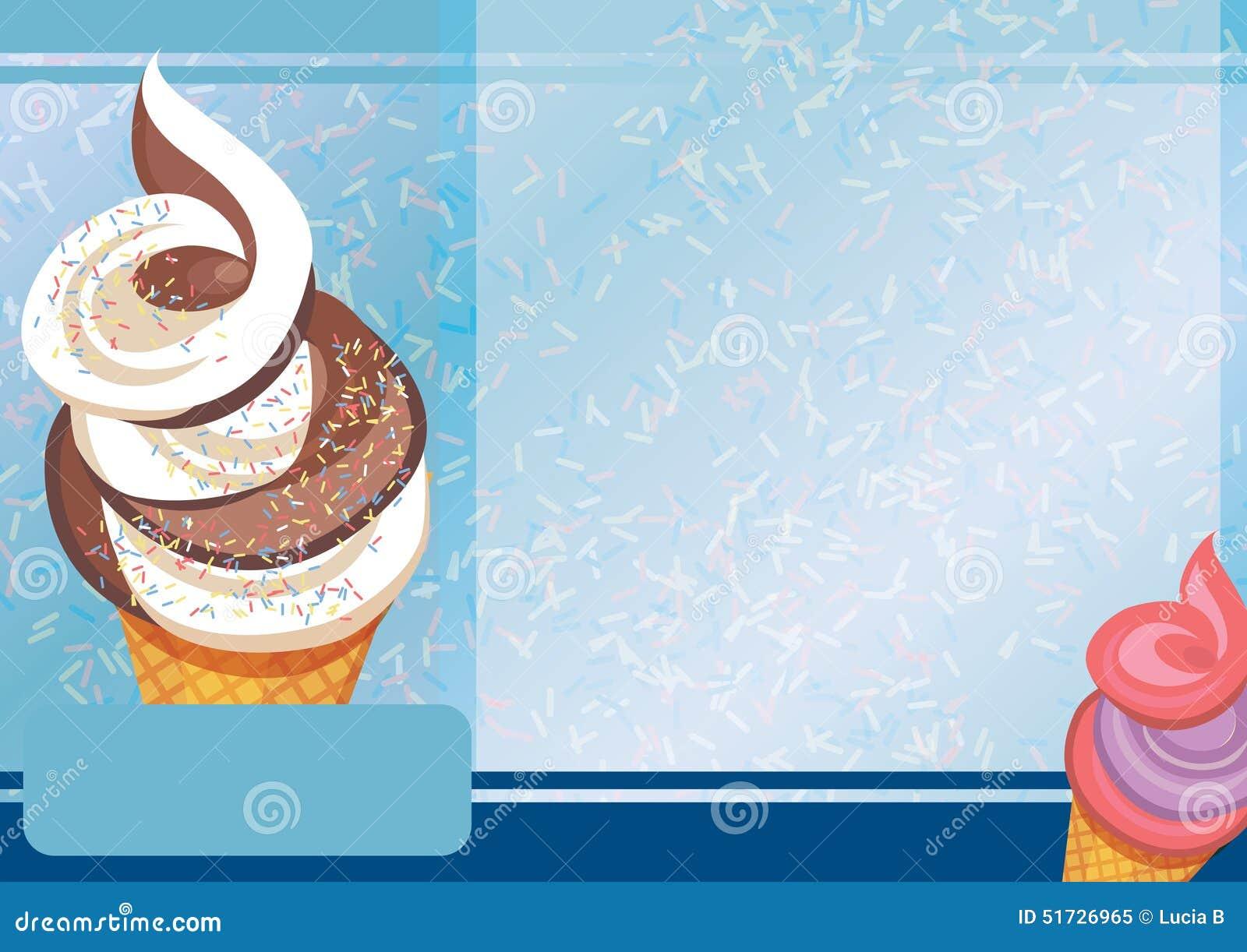 Plantilla del helado A4 ilustración del vector. Ilustración de ...