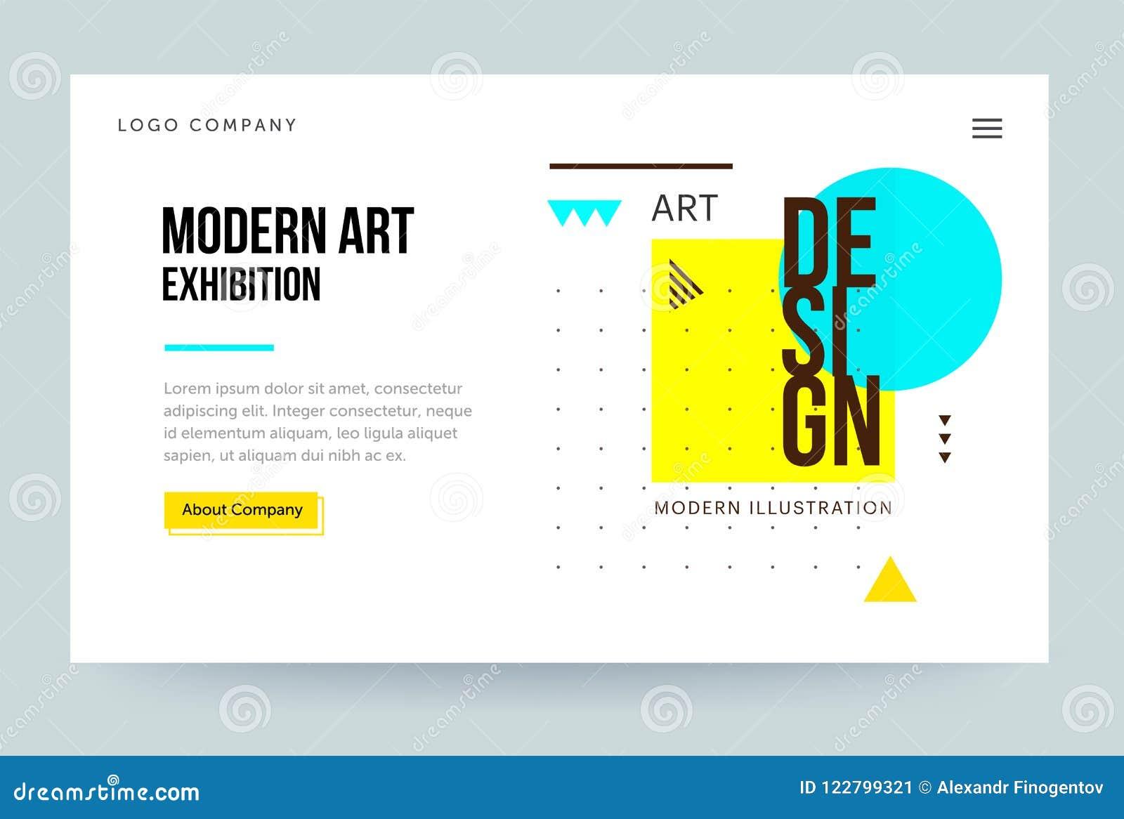 Plantilla Del Homepage Jefe Para El Sitio Web De La Galería De Arte ...