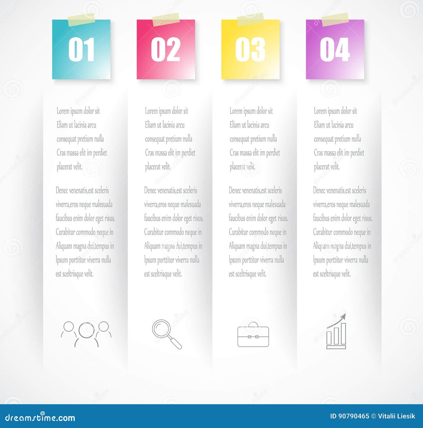 Plantilla Del Infographics Del índice De Negocio Con 4 Datos Puede ...