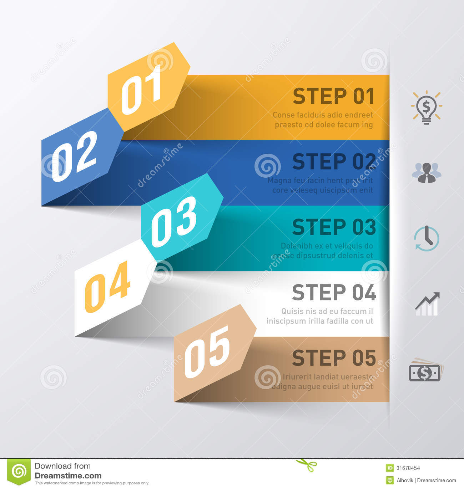 Plantilla del infographics del extracto del proceso de negocio