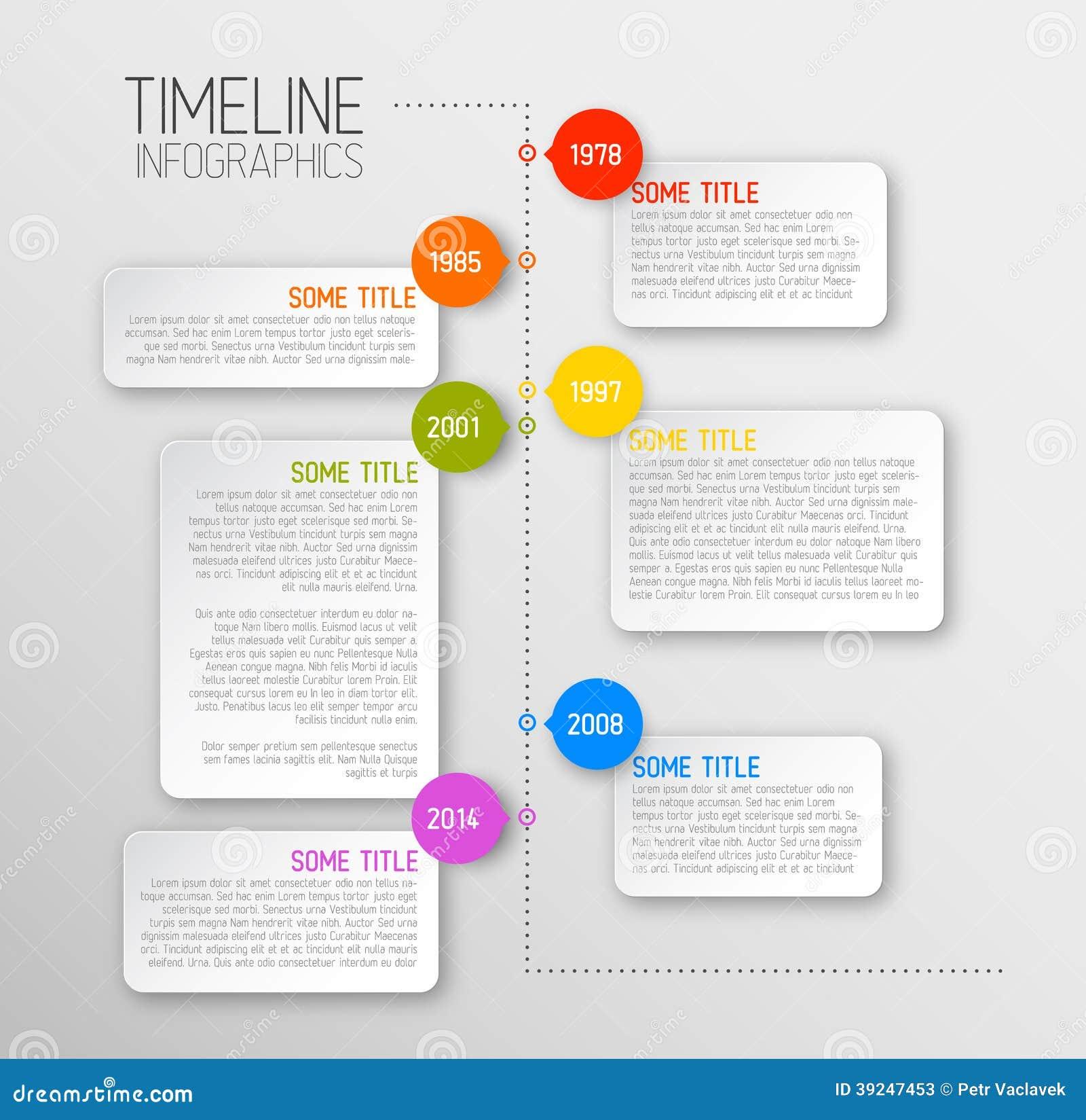 Plantilla Del Informe De La Cronología De Infographic Ilustración ...