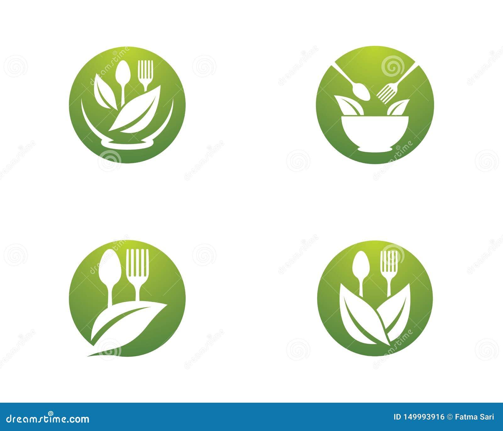 Plantilla del logotipo del alimento biológico