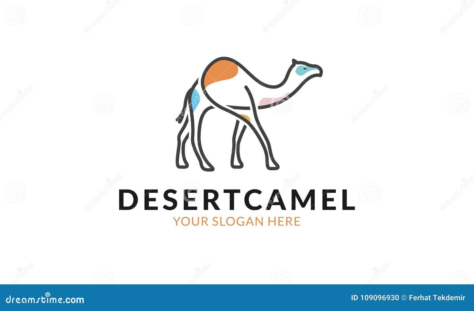Plantilla Del Logotipo Del Camello Del Desierto Stock de ...