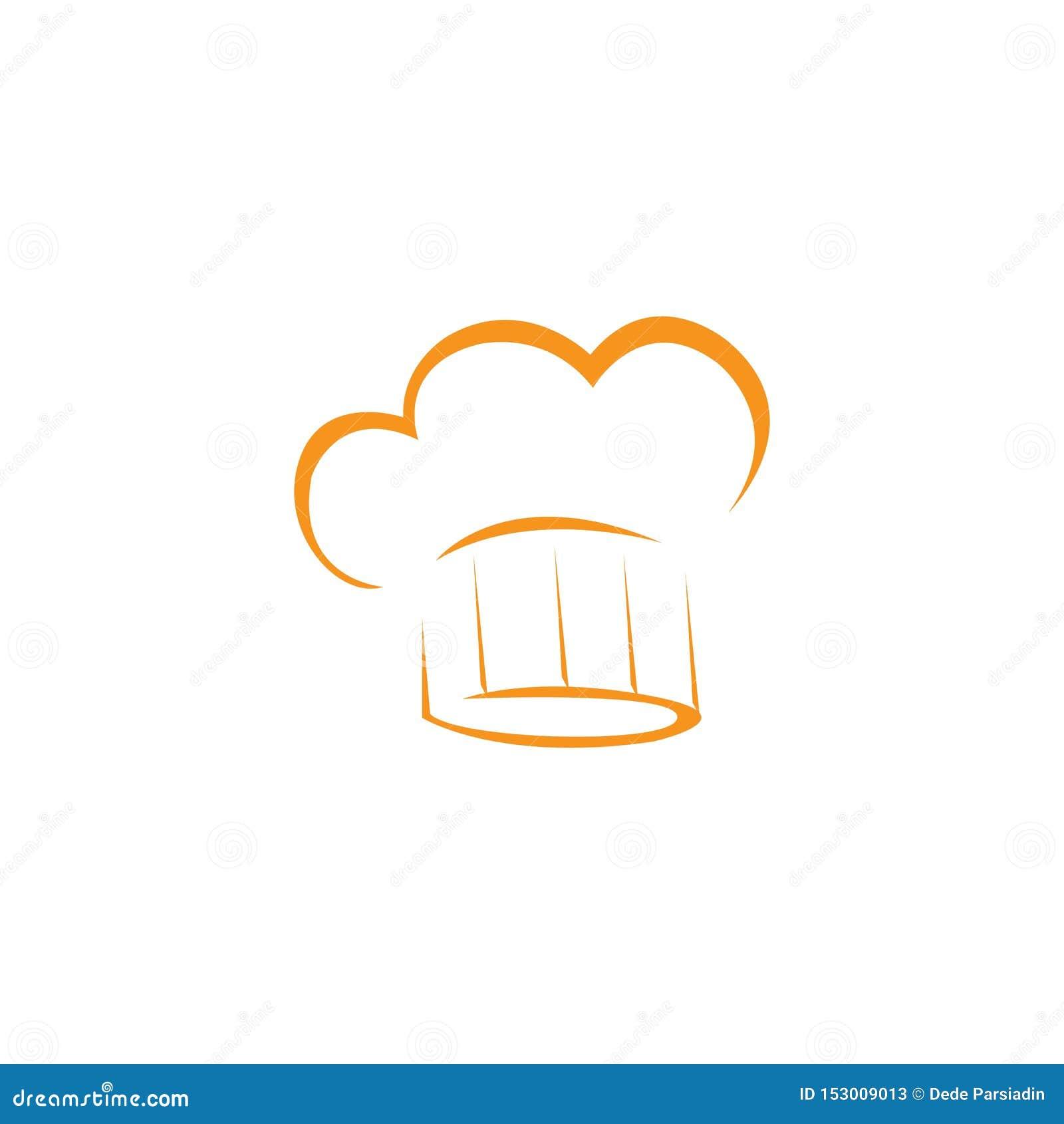 Plantilla del logotipo del cocinero del sombrero