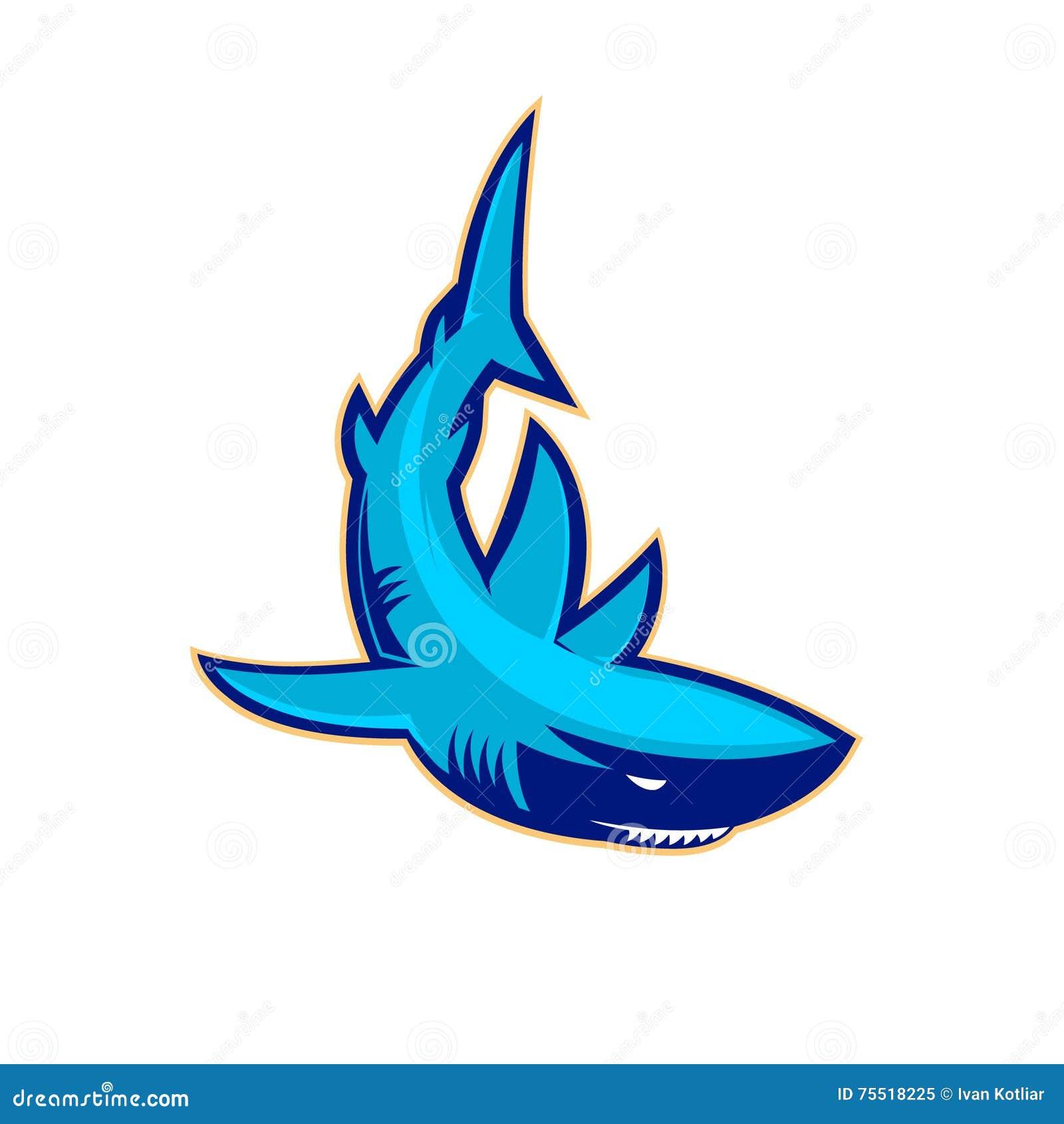 Plantilla del logotipo con el tiburón Mascota del equipo de deporte Club de  deporte o dc1f7a76aec03