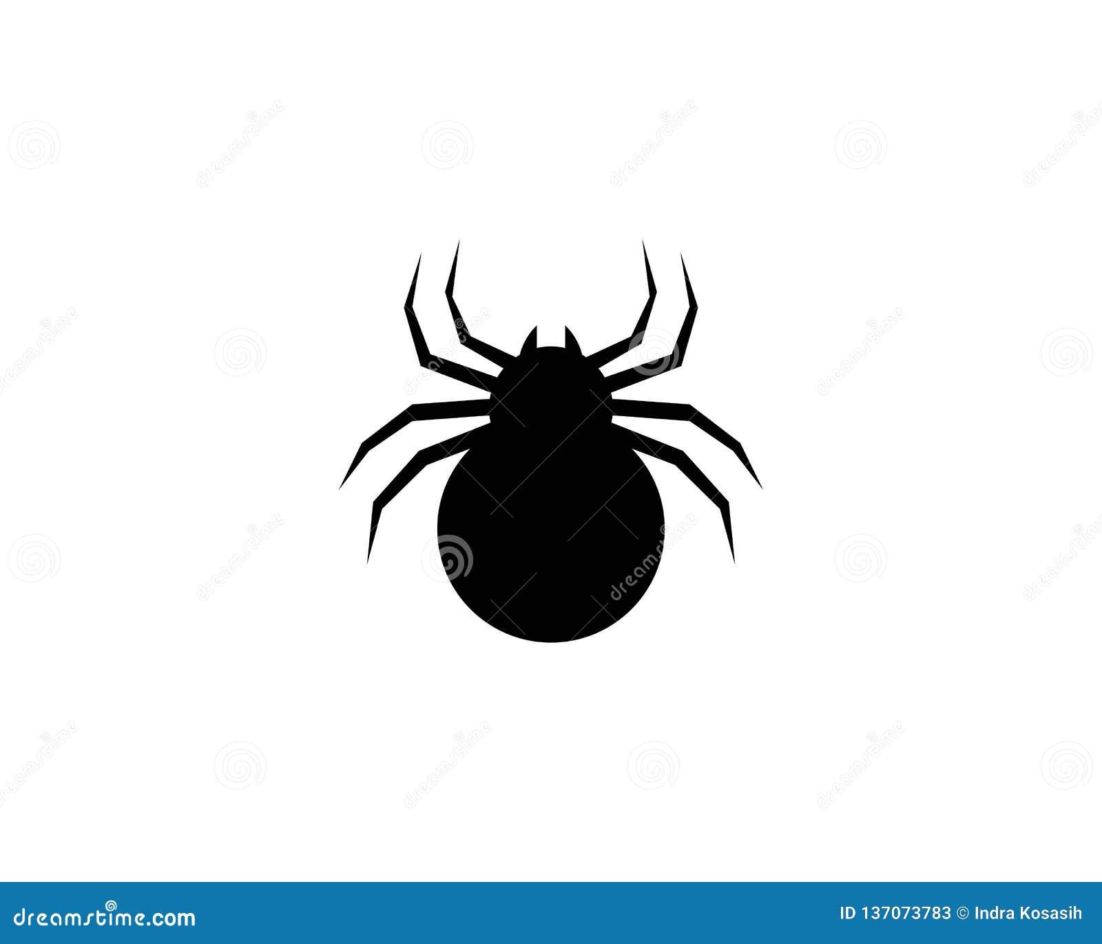 Plantilla del logotipo de la araña