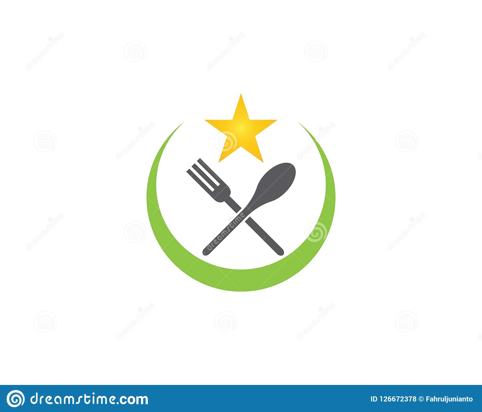 Plantilla del logotipo de la comida Ilustración del vector Libre Illustration