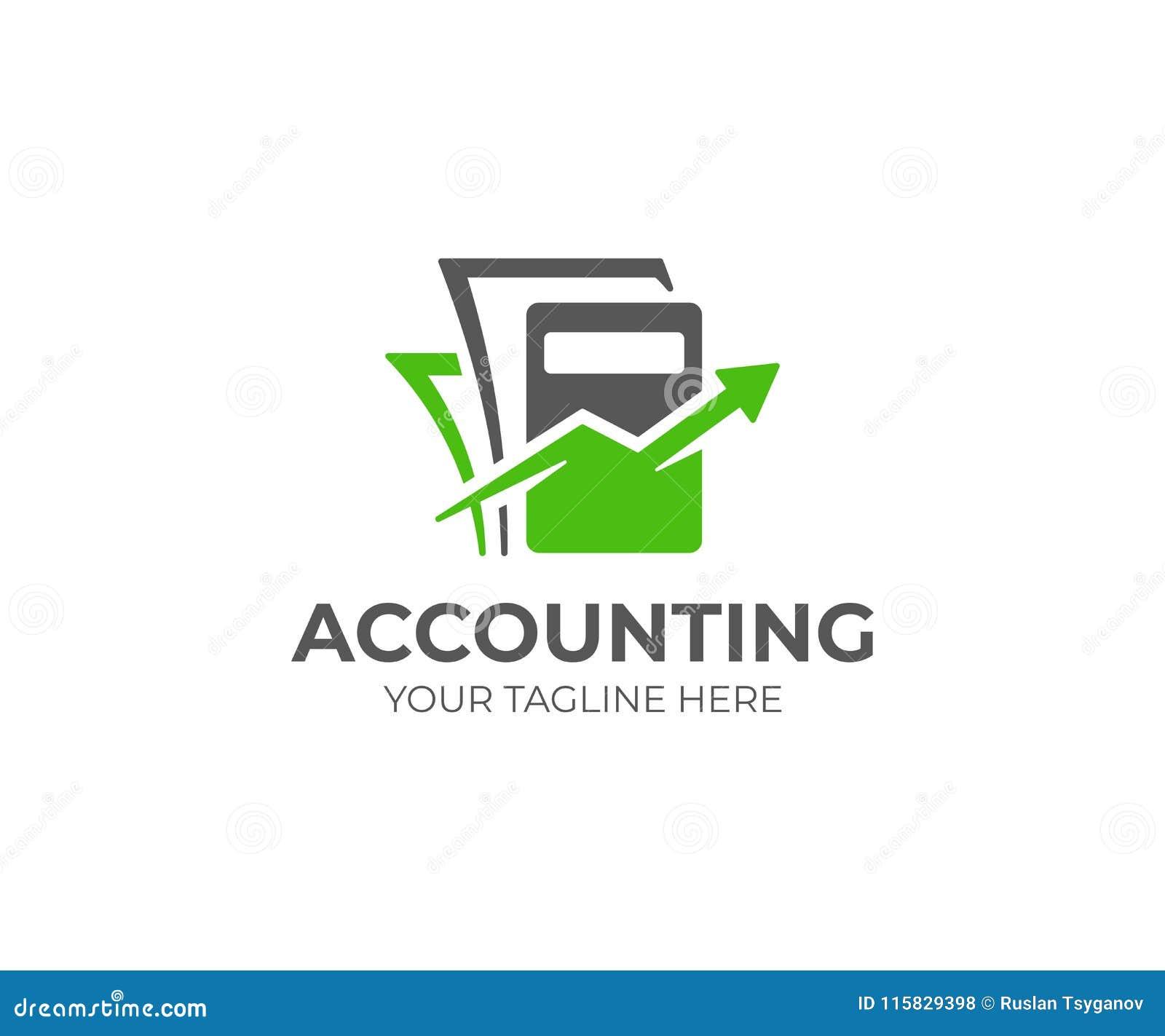 Plantilla del logotipo de la contabilidad Diseño del vector de la contabilidad