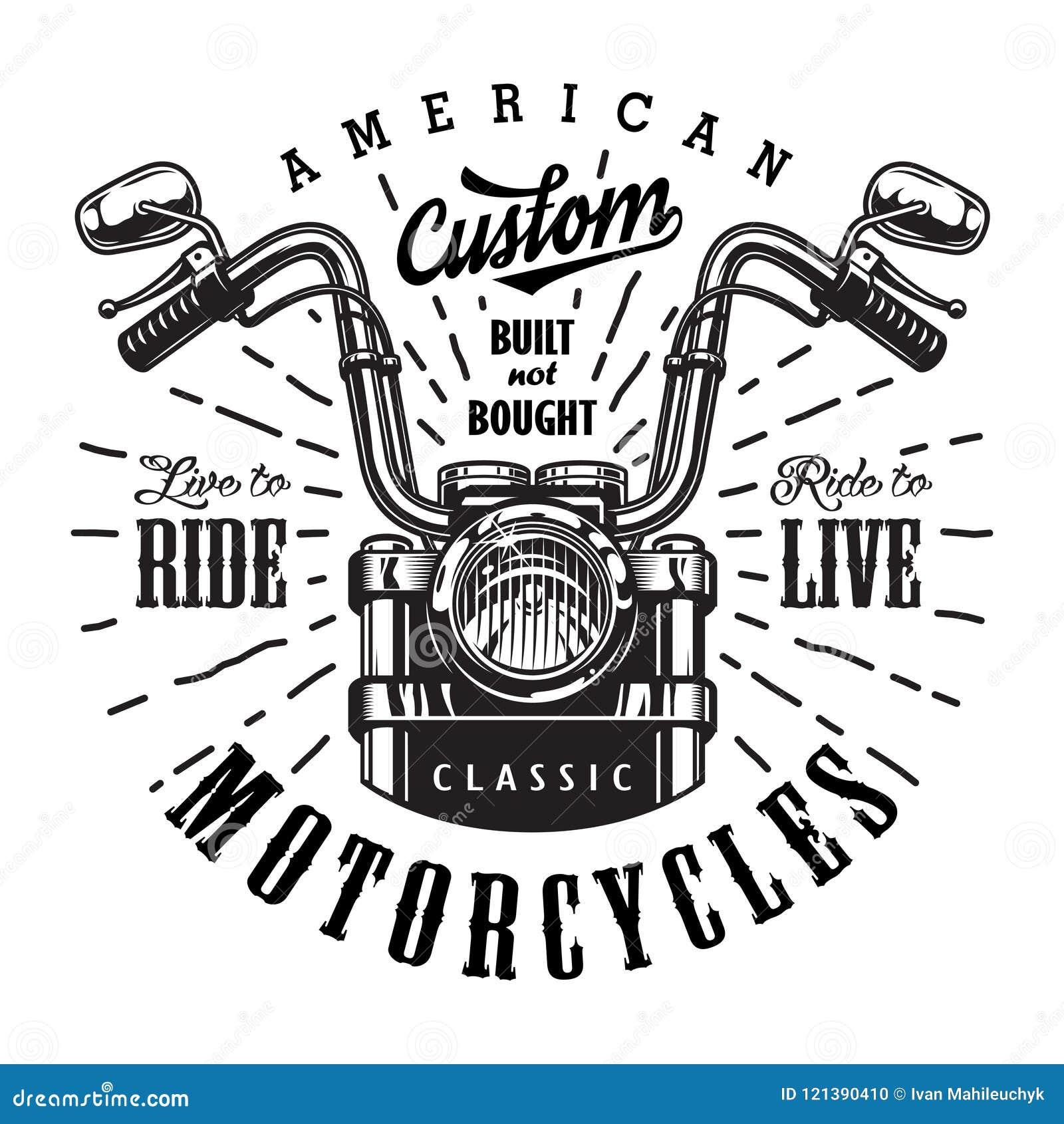 Plantilla del logotipo de la motocicleta del vintage