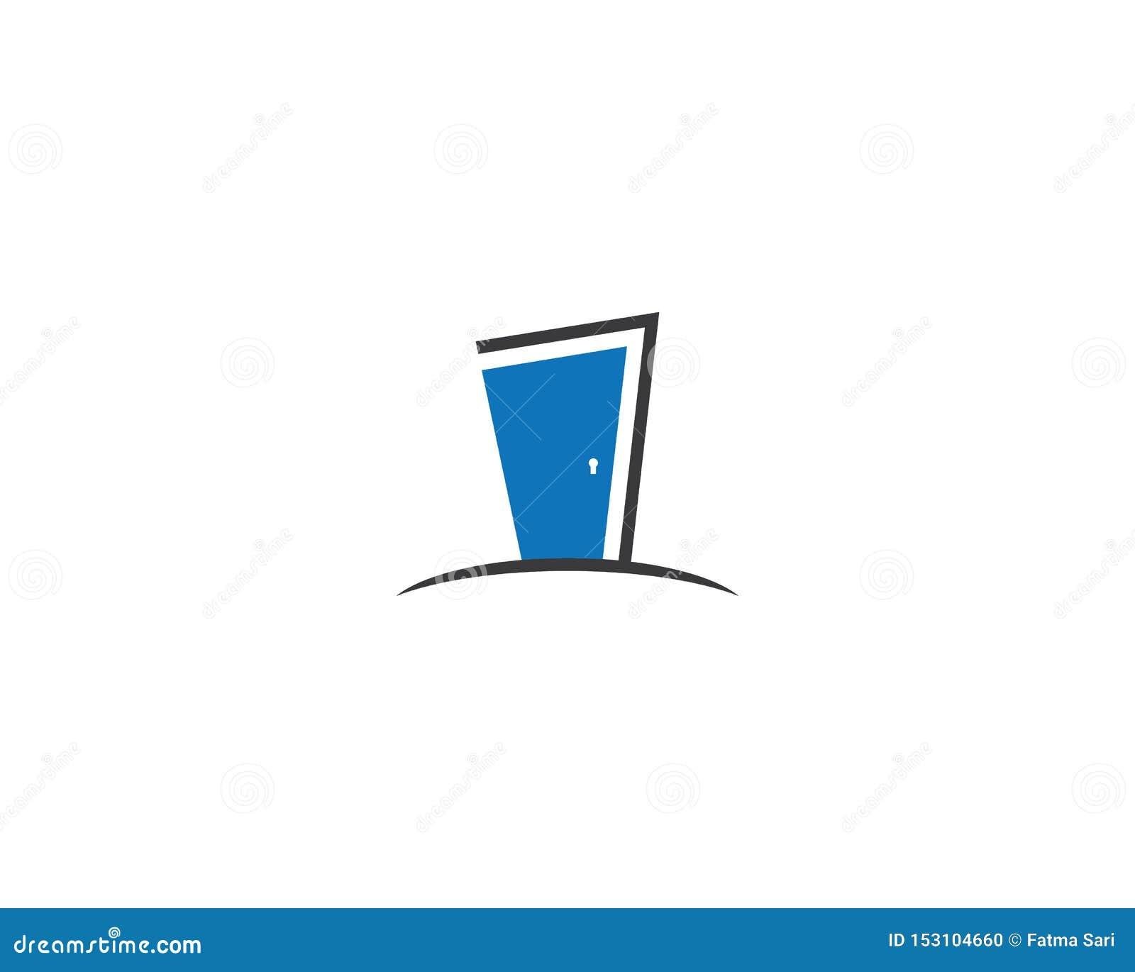 Plantilla del logotipo de la puerta