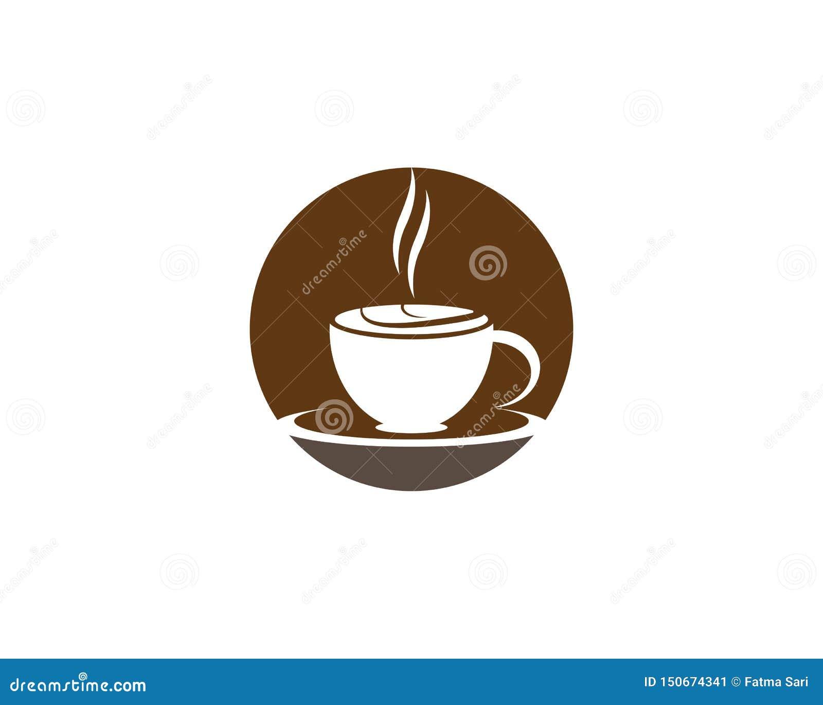 Plantilla del logotipo de la taza de caf?