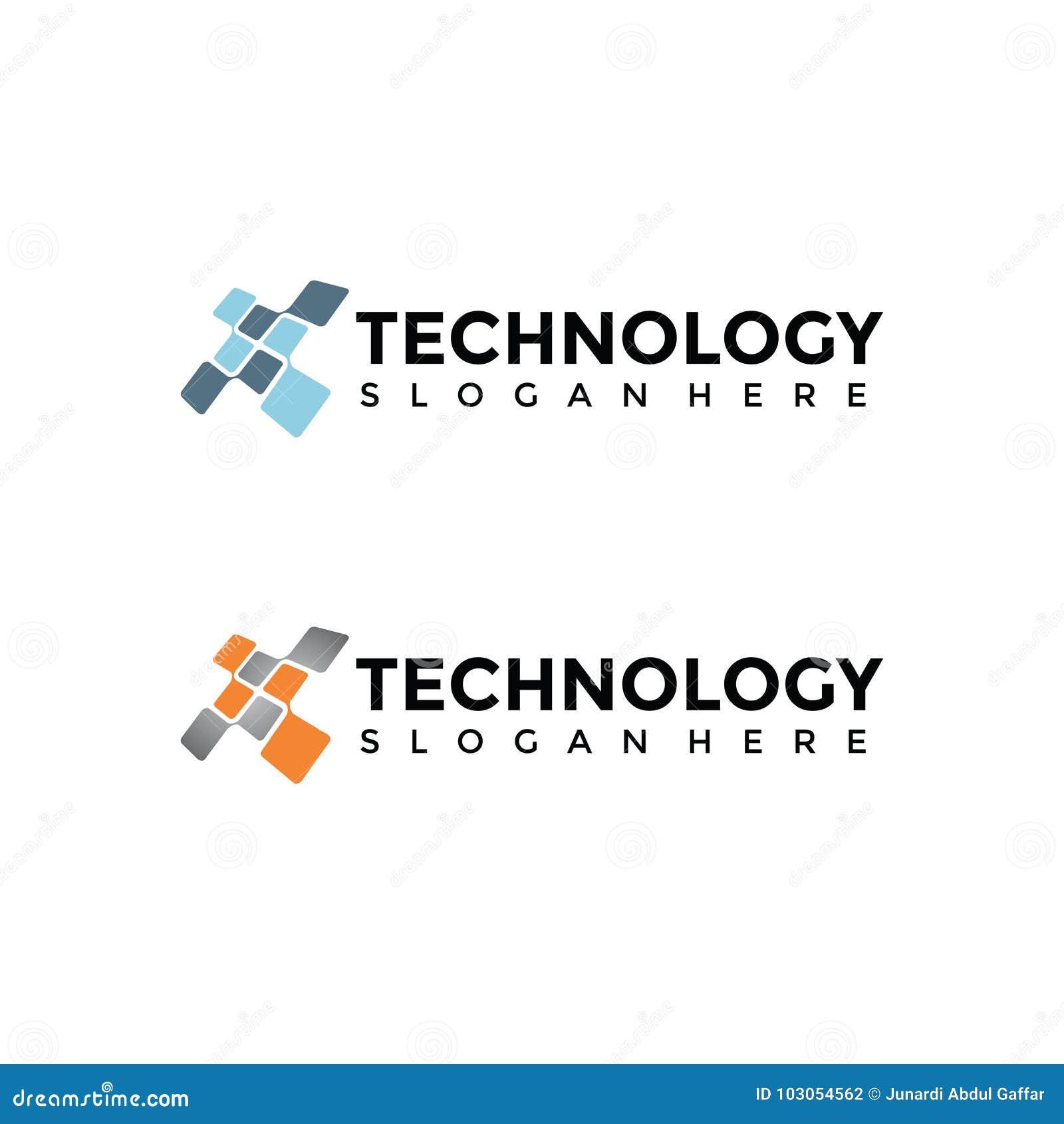 Plantilla del logotipo de la tecnología Ilustrador EPS del vector 10