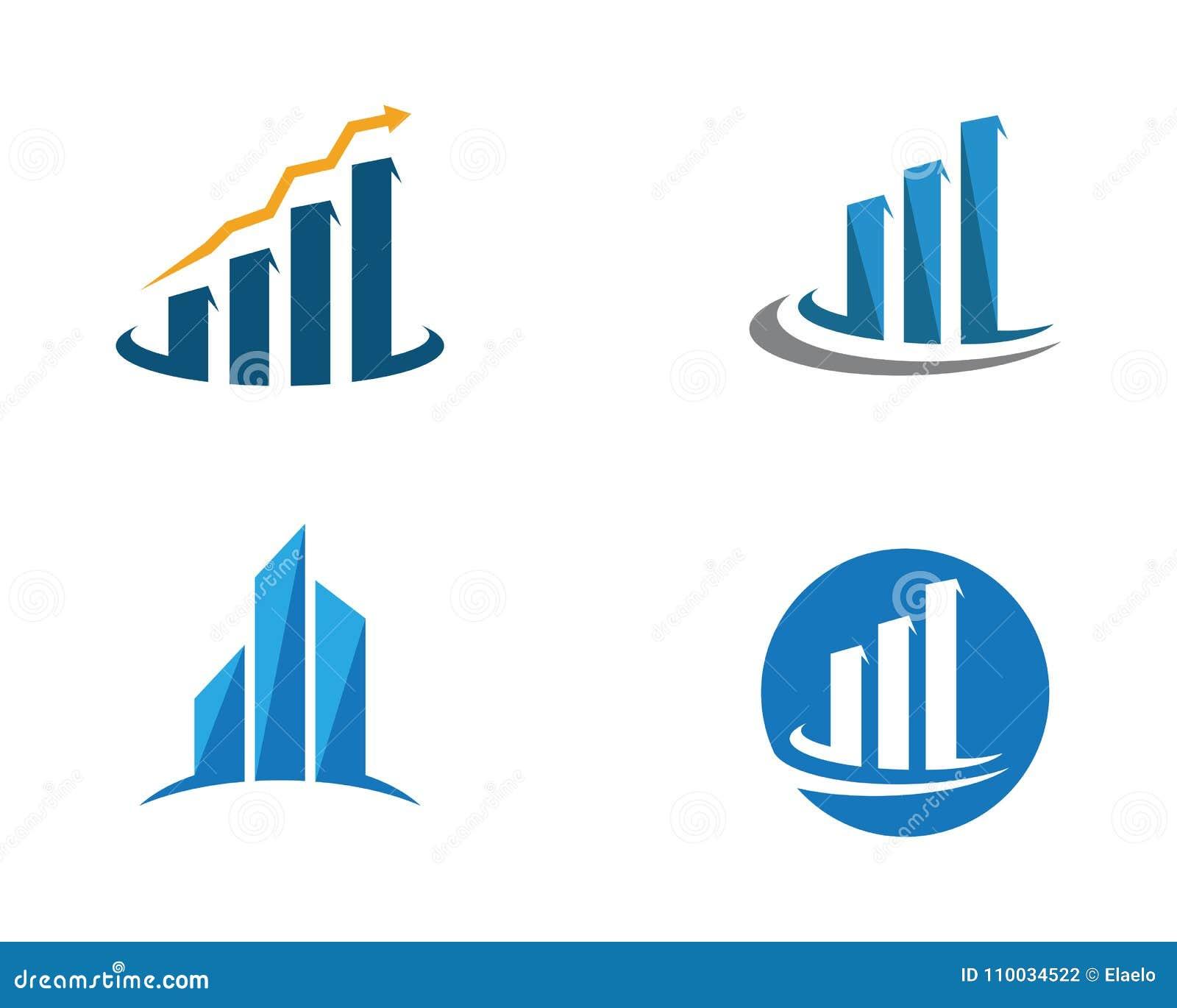 Plantilla del logotipo de las finanzas del negocio