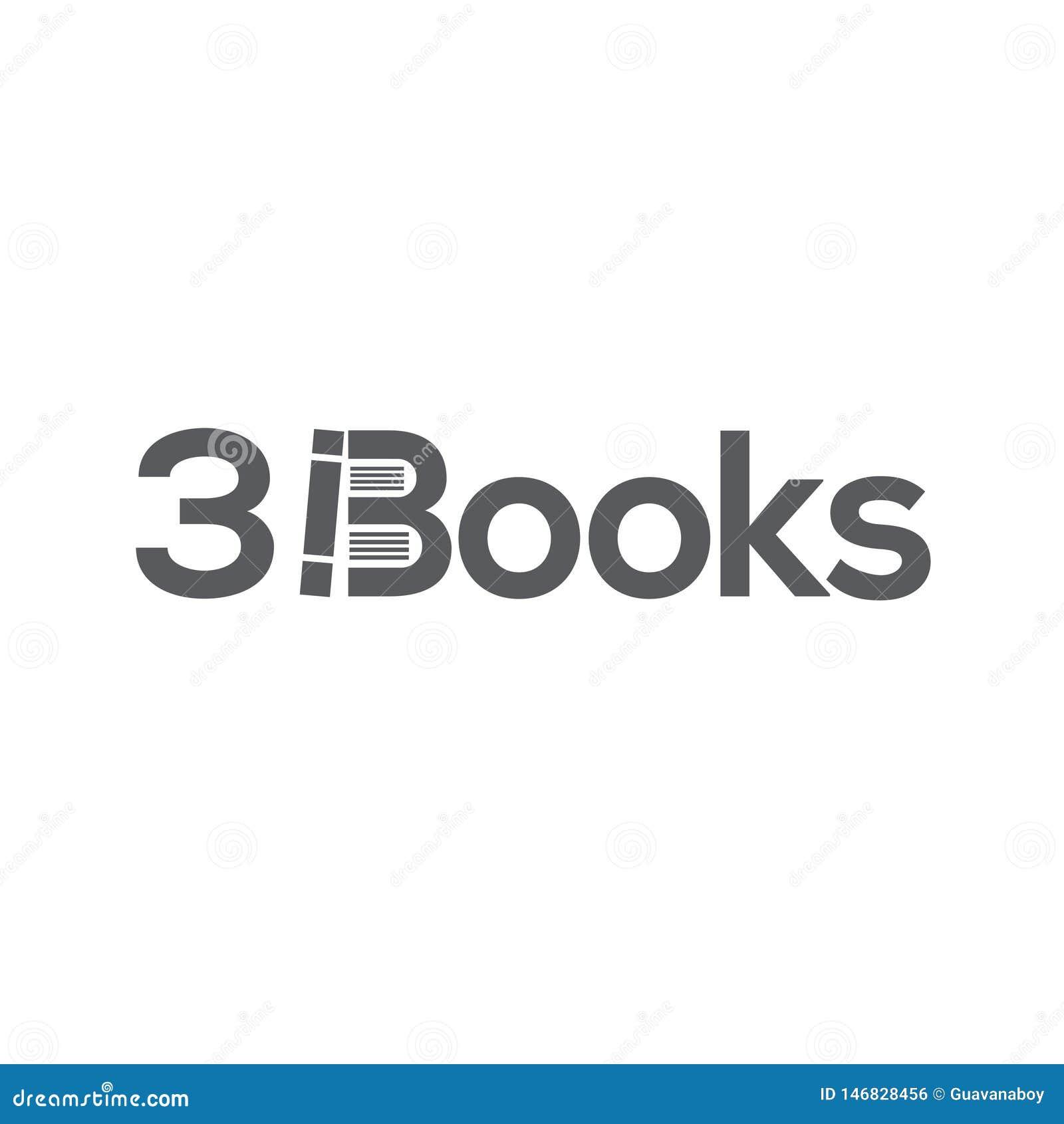 Plantilla del logotipo de los libros