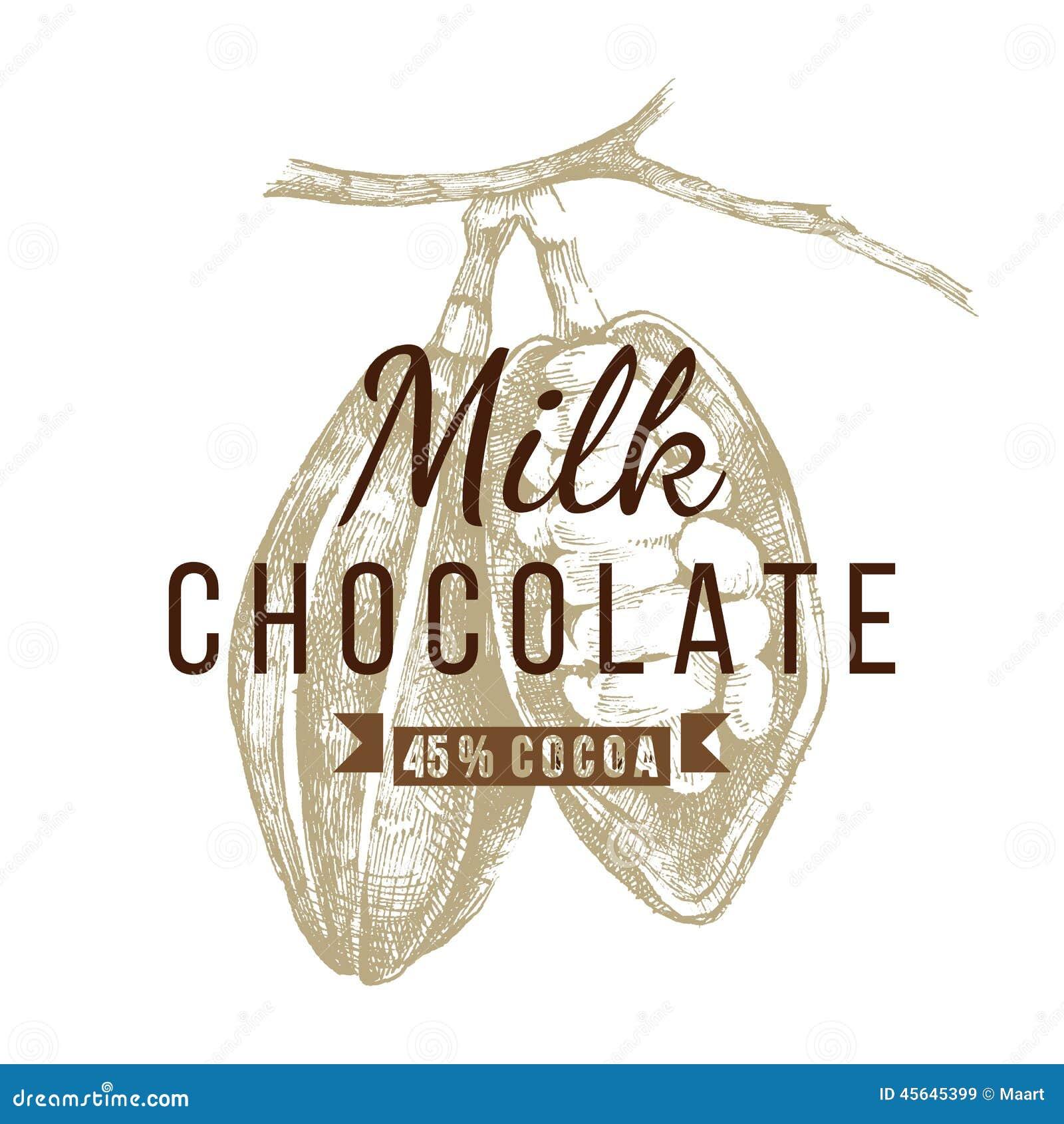 Plantilla Del Logotipo Del Chocolate Con Leche Ilustración del ...