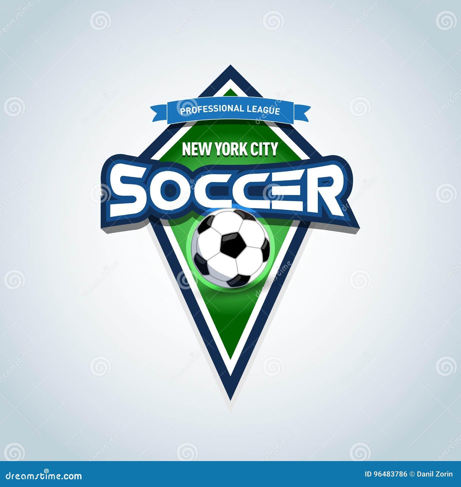 Plantilla Del Logotipo Del Fútbol O Del Fútbol Emblema Del Fútbol ... 90f33003968da