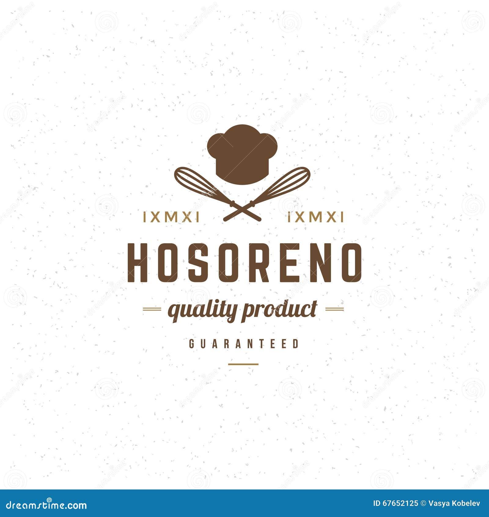 Plantilla del logotipo del restaurante Estilo del vintage del elemento del  diseño del vector para el 9b75041812e22