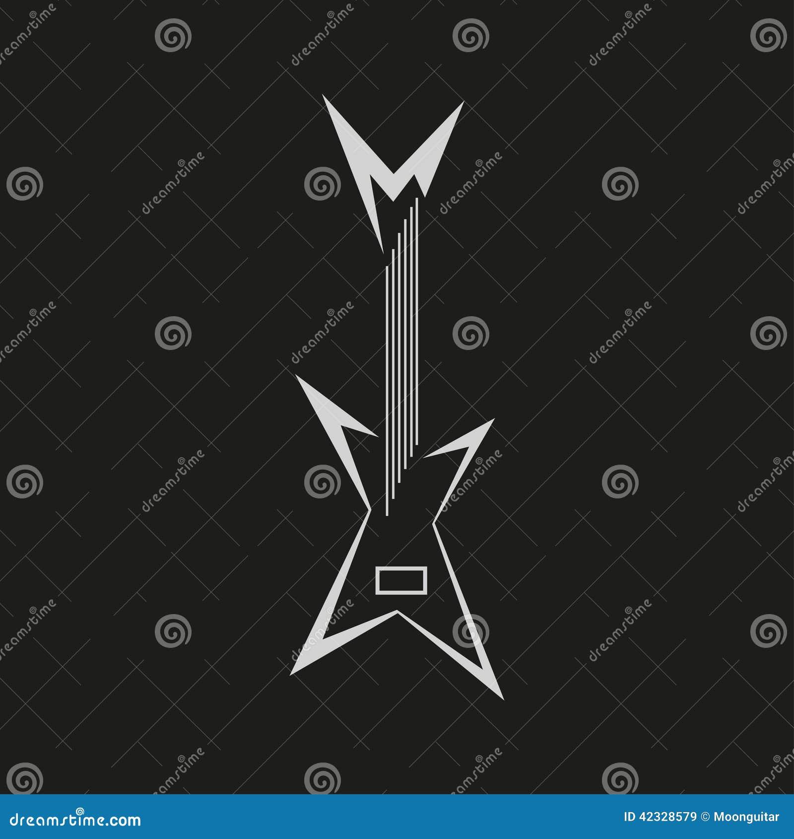 Vector El Concepto Retro Del Cartel Del Vintage Con La Guitarra ...