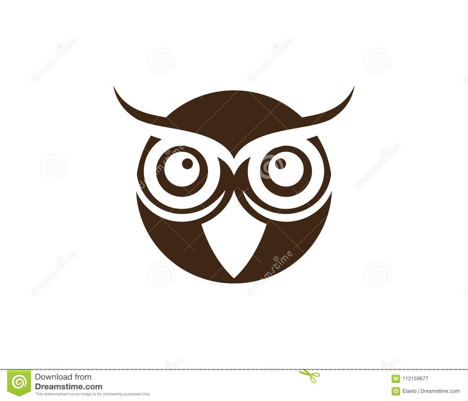 Plantilla Del Logotipo Del Ejemplo Del Pájaro Del Búho Ilustración ...