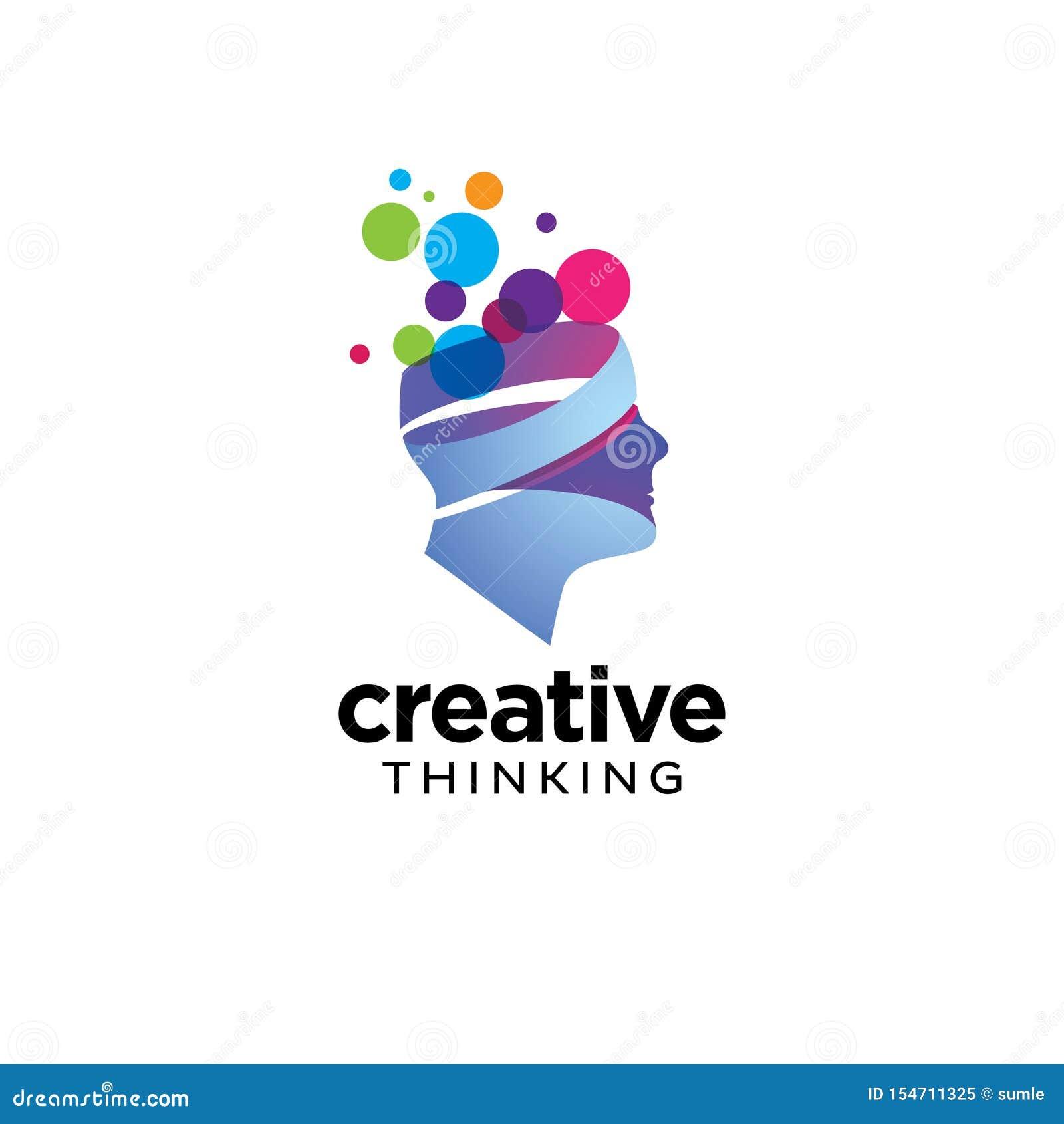 Plantilla Del Logotipo Del Pensamiento Creativo Con Las Burbujas De Las Chispas Stock De Ilustración Ilustración De Inteligencia Hombre 154711325