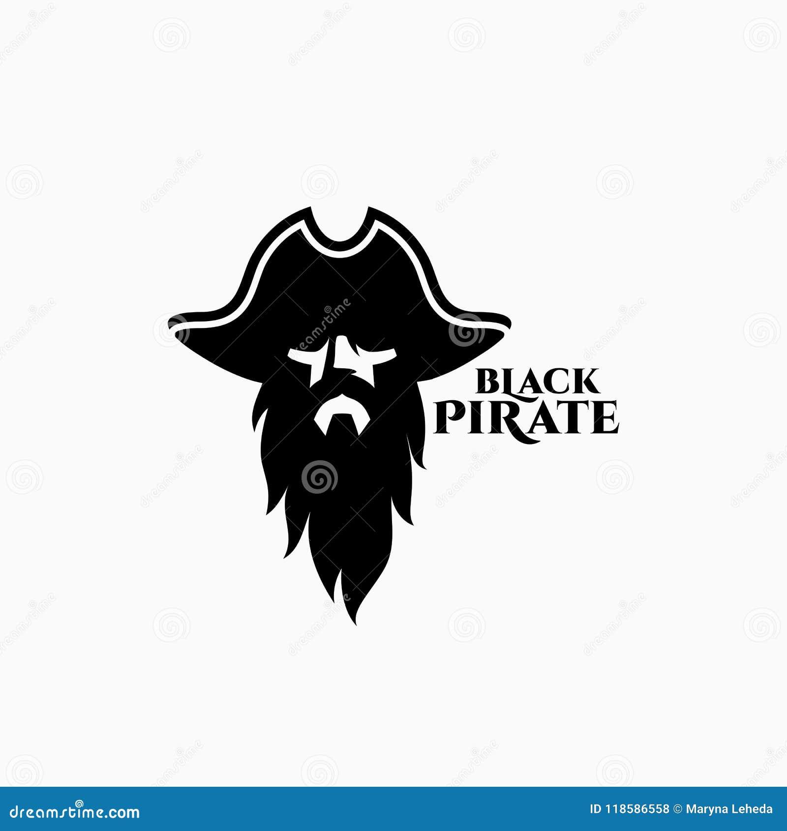 Plantilla Del Logotipo Del Pirata Ilustración del Vector ...