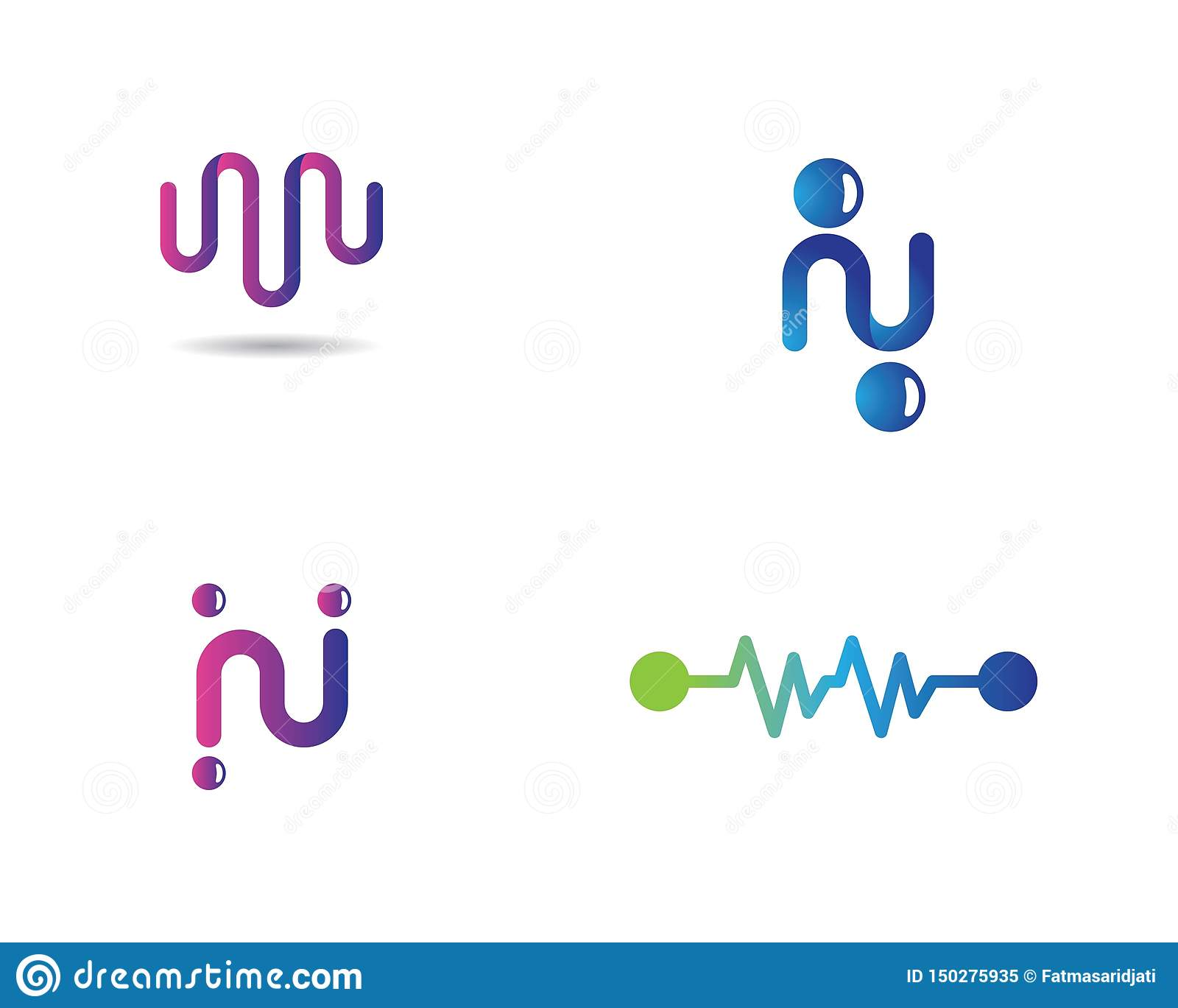 Plantilla del logotipo del pulso