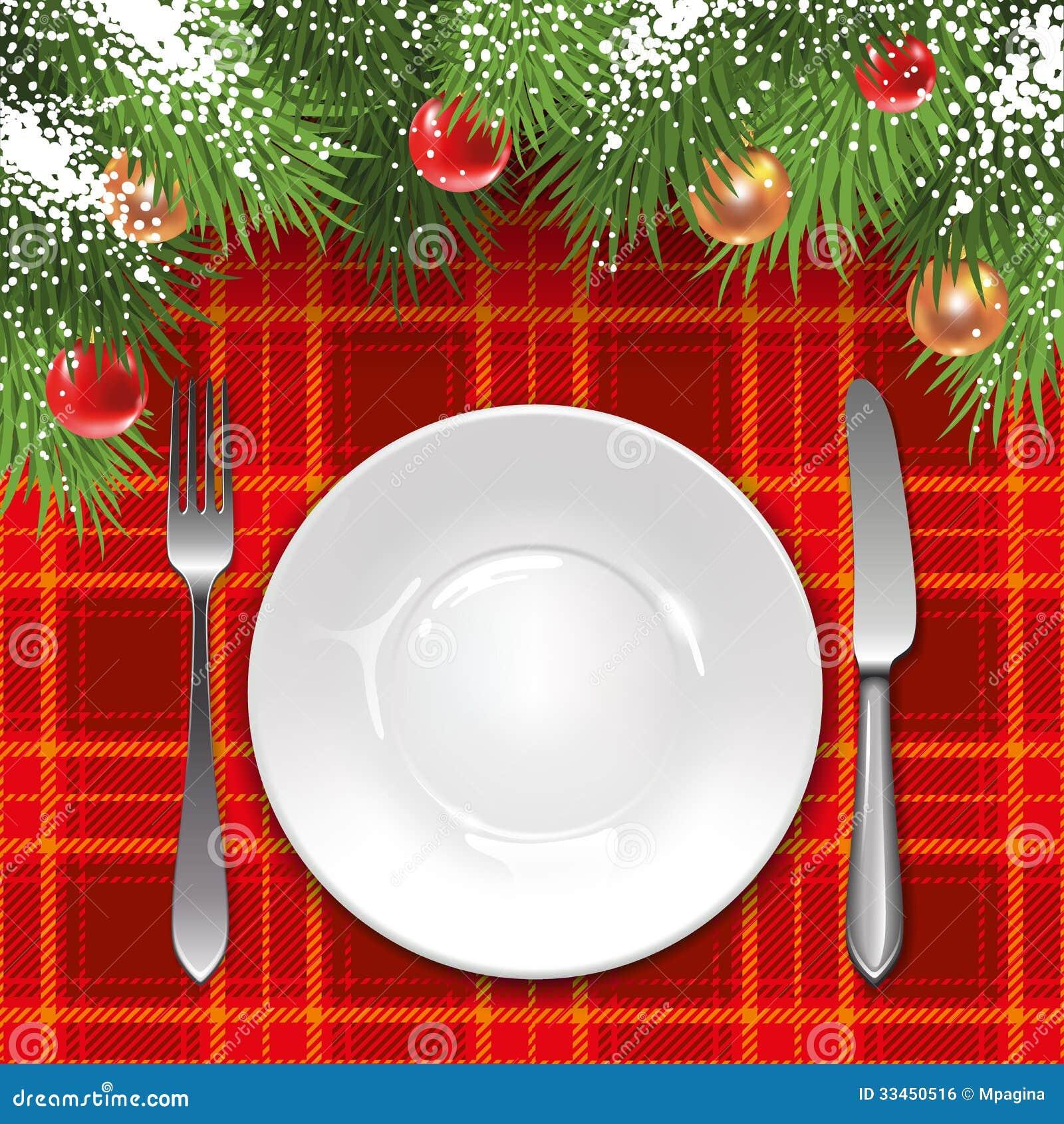Plantilla Del Menú De La Navidad Ilustración Del Vector