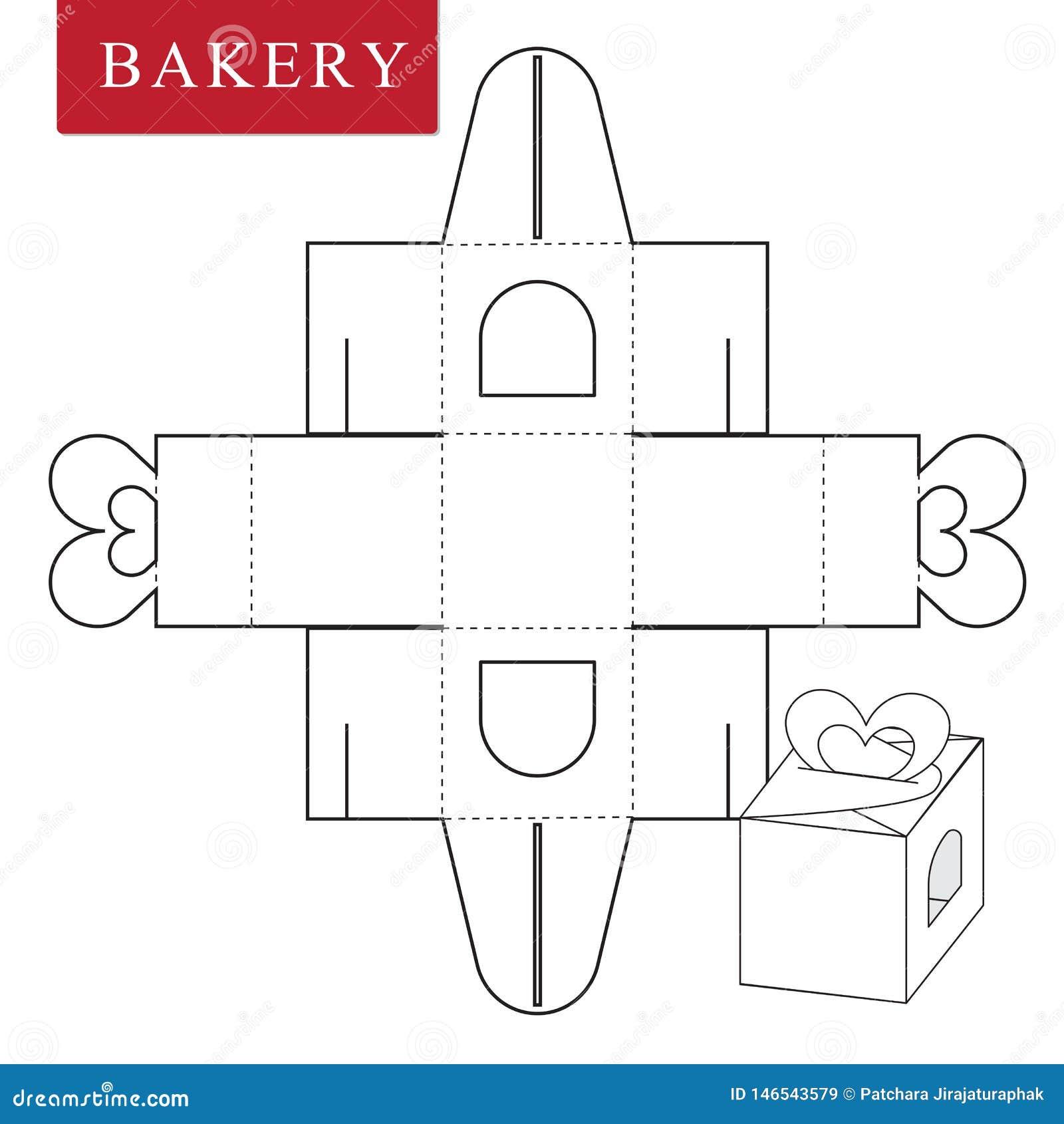 Plantilla del paquete para la comida de la panader?a u otros art?culos