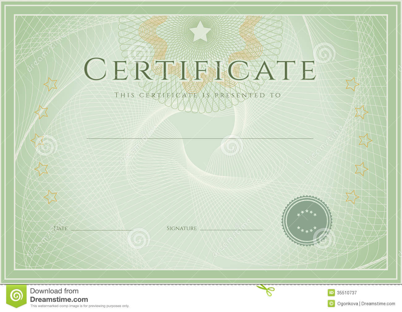 Award Certificate Template Photography