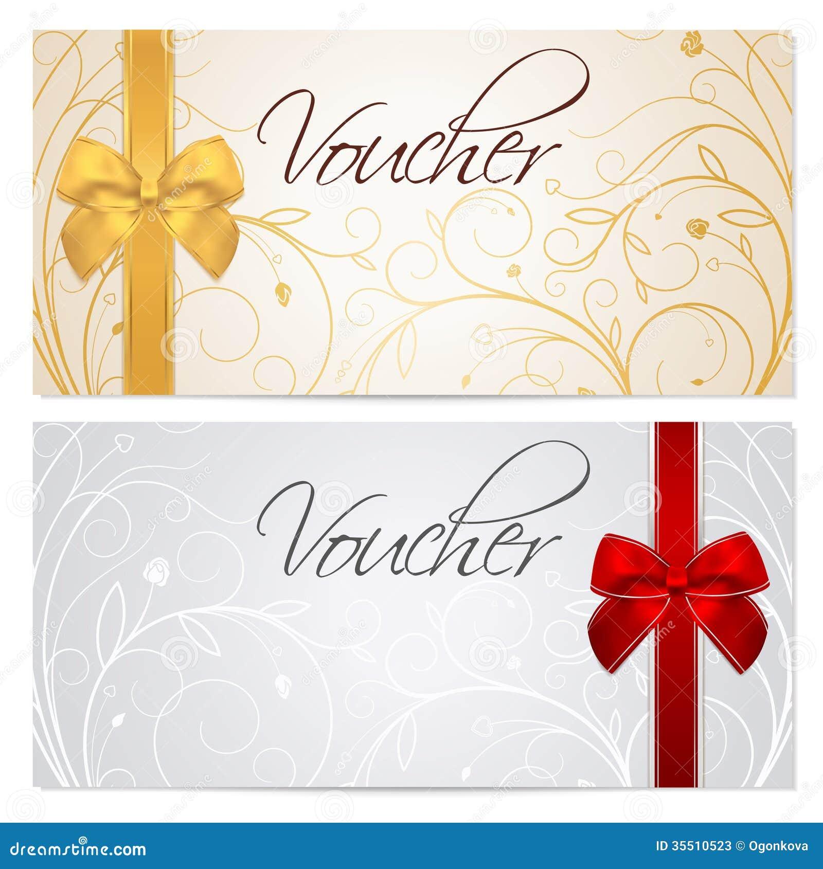 Plantilla del vale (chèque-cadeaux, cupón). B rojo