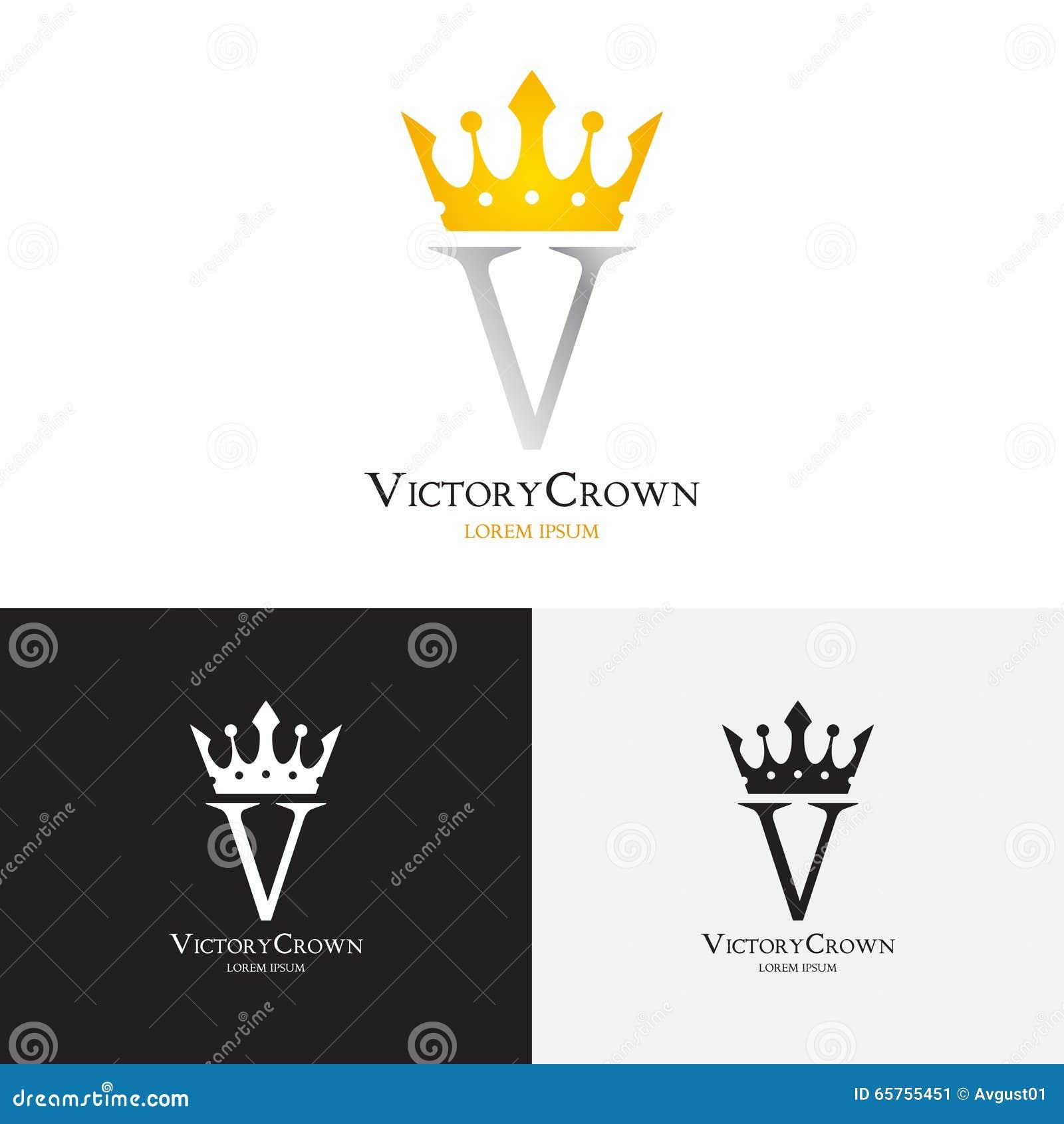 Plantilla Del Vector Del Logotipo De La Corona De La Victoria ...