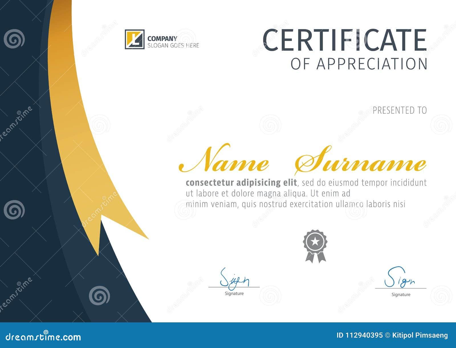 Plantilla Del Vector Para El Certificado, Diploma Moderno ...