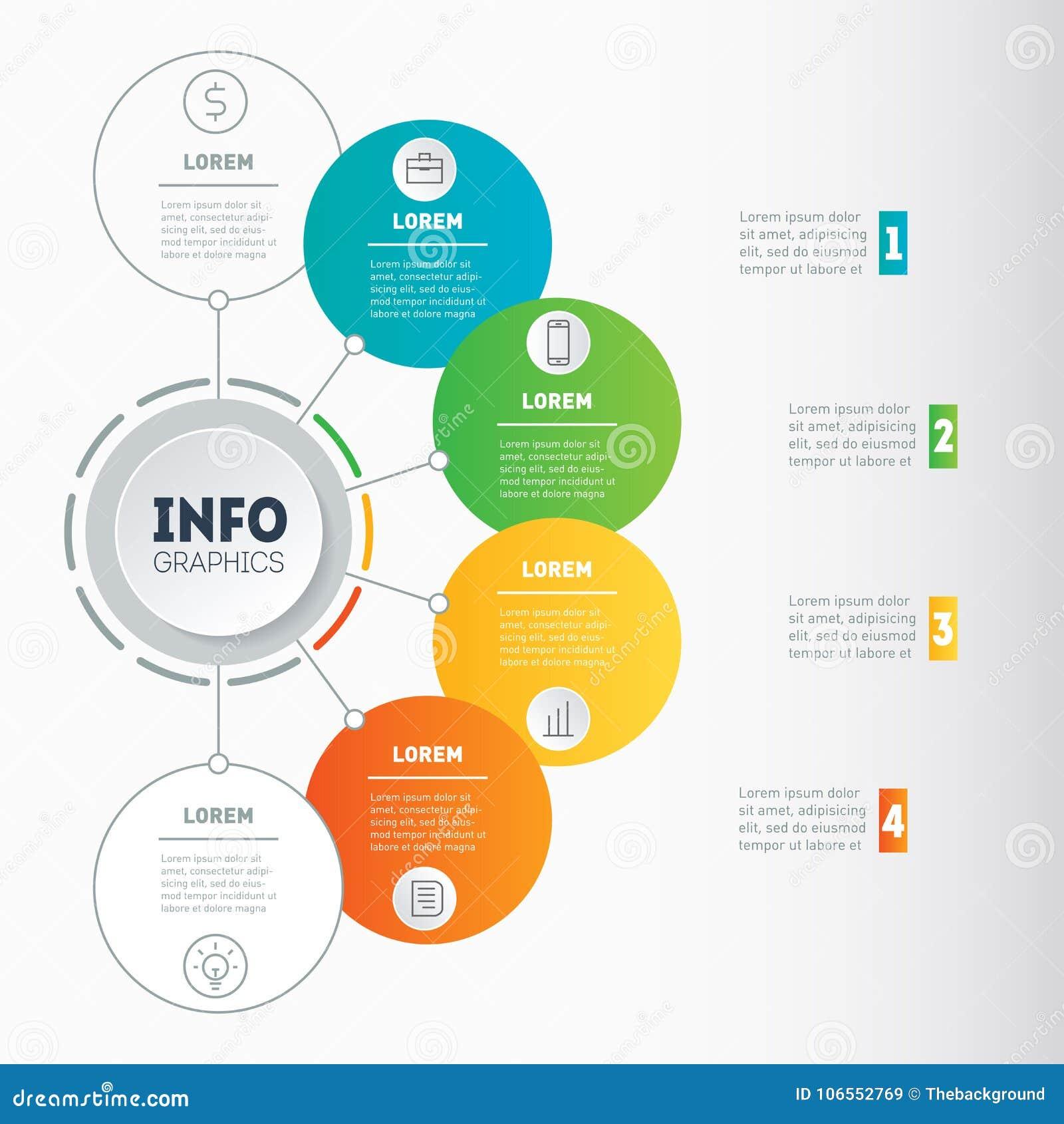 Plantilla del web de una carta, de un gráfico de la información, de un mindmap o de un diagrama Busin