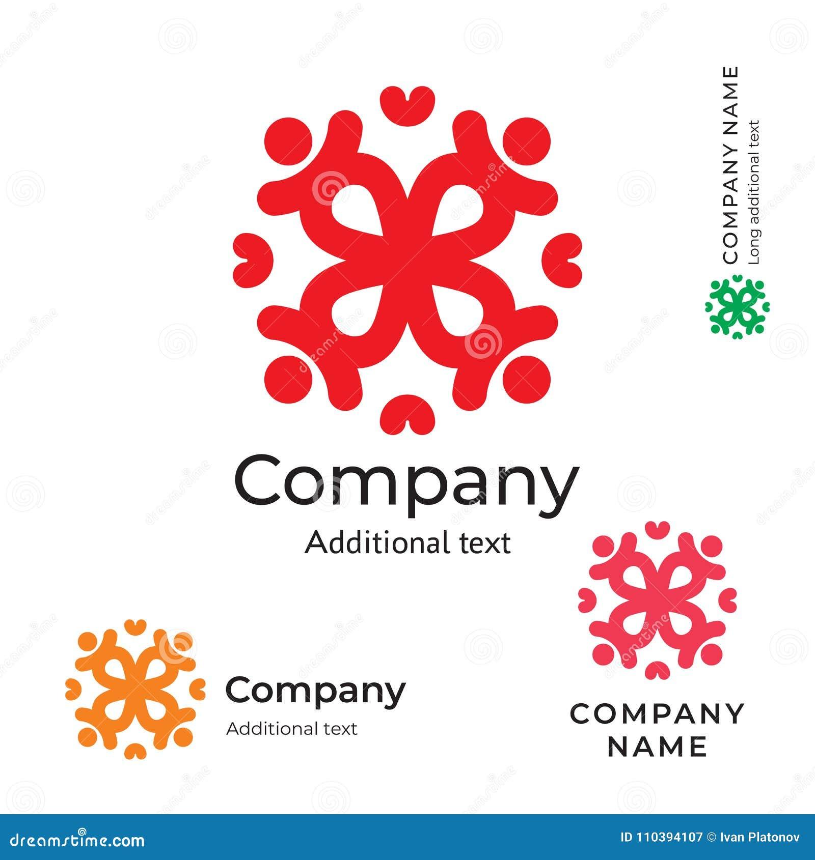 Plantilla determinada del concepto tradicional del icono del símbolo de la marca de Logo Stylish Folk Identity Beauty de la flor