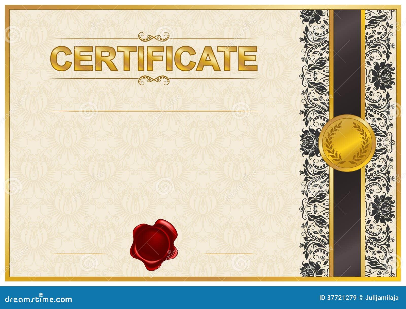 Plantilla Elegante Del Certificado, Diploma Stock de ilustración ...