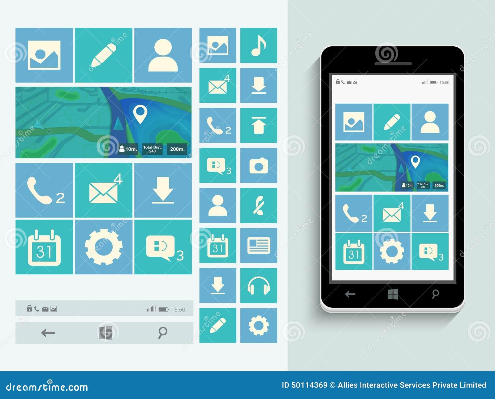 storyboard template app - plantilla elegante para la interfaz de usuario m vil stock