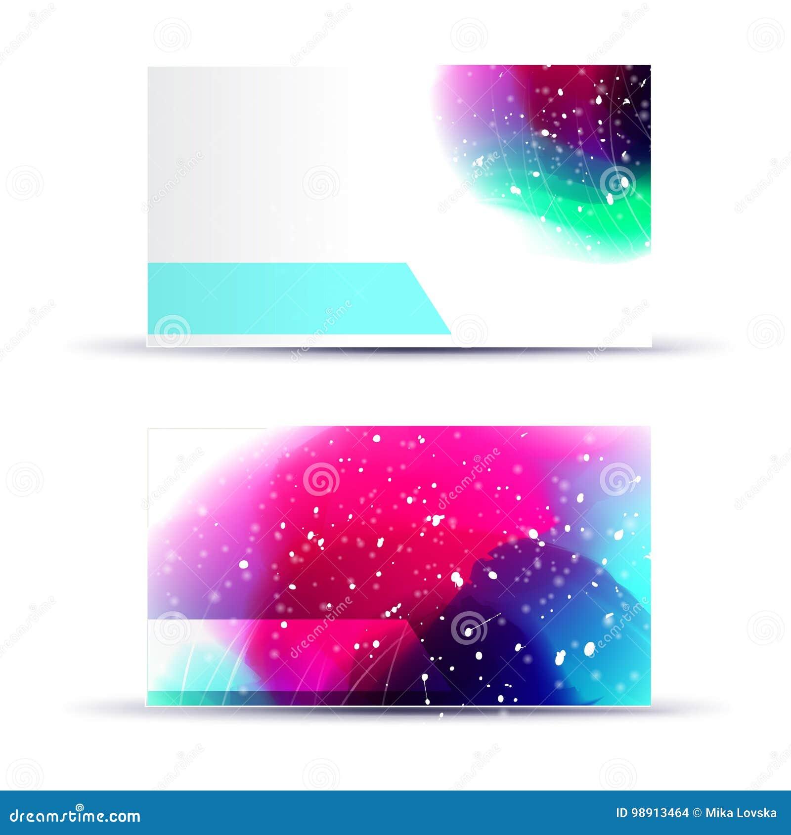 plantilla en blanco abstracta de la tarjeta de presentación para las