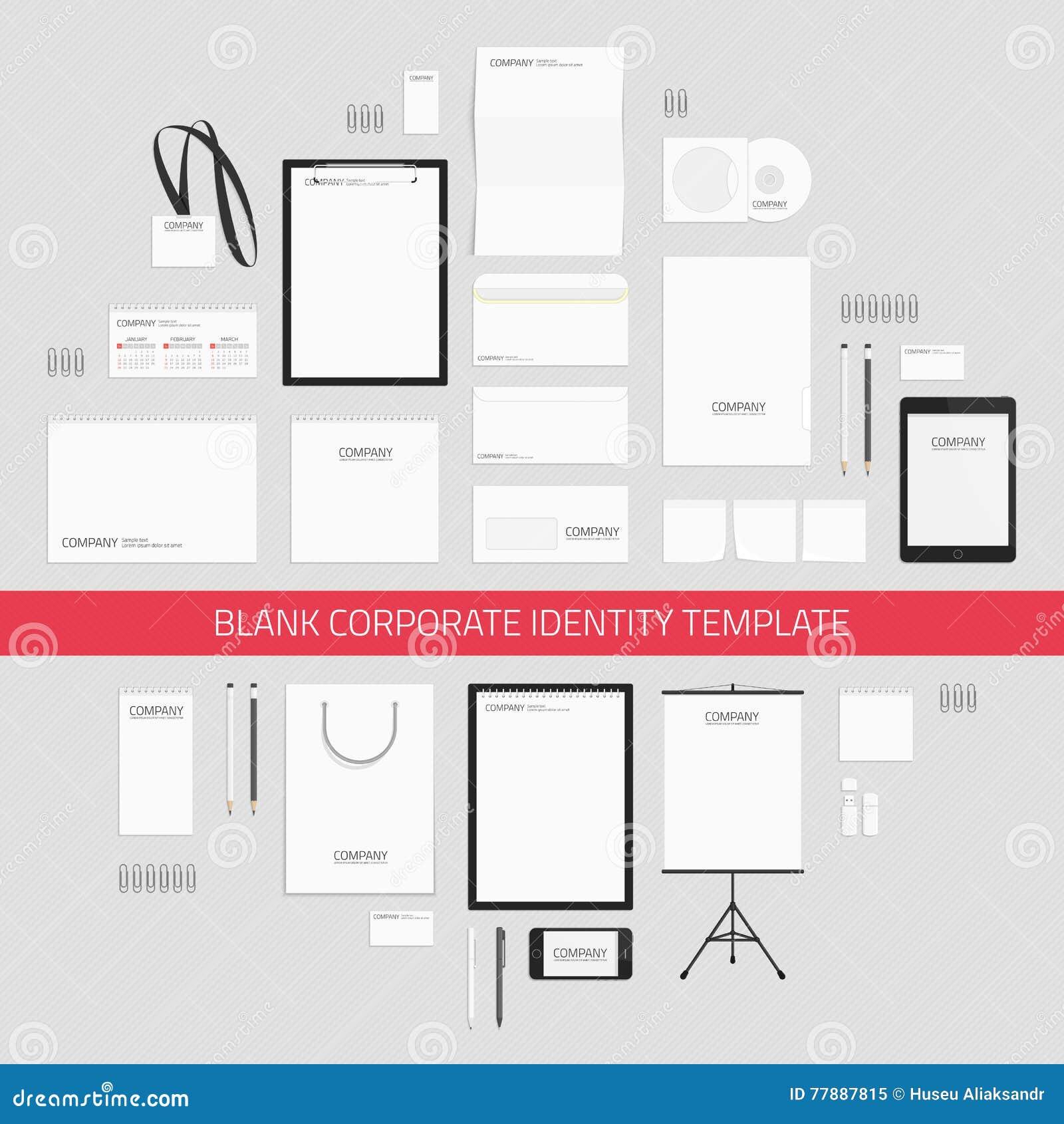 Plantilla En Blanco De La Identidad Corporativa Ilustración del Vector