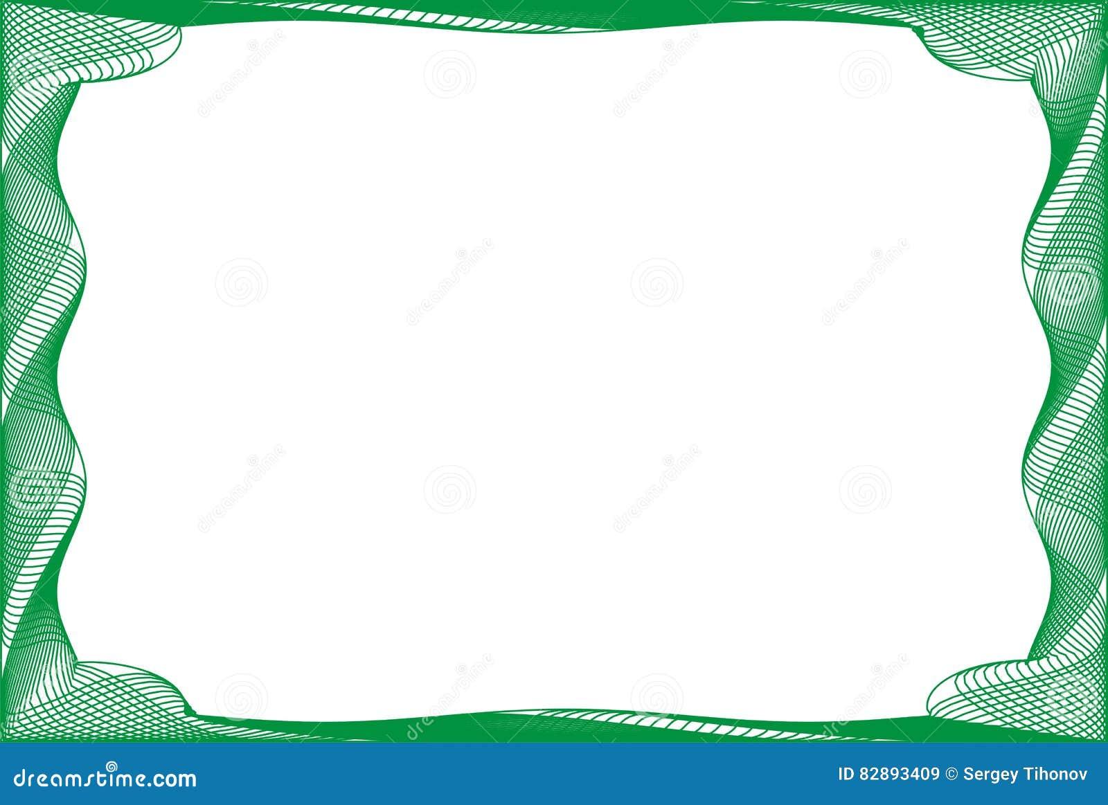 Plantilla En Blanco Del Capítulo Para Un Certificado Stock de ...