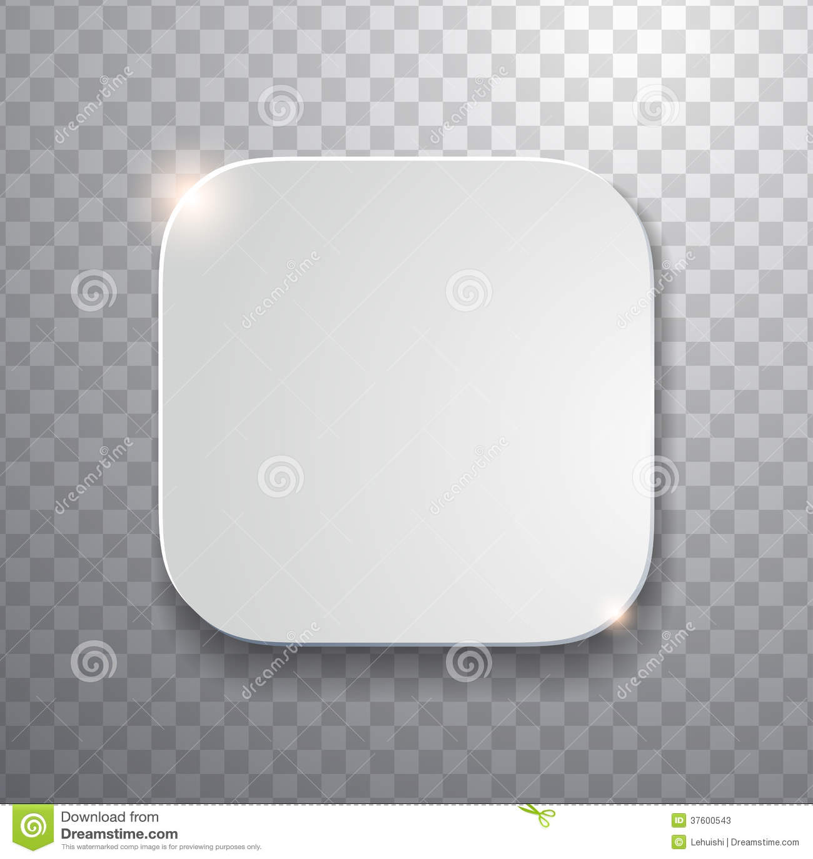 Plantilla En Blanco Del Icono Del App Con Textura Blanca Flatted ...