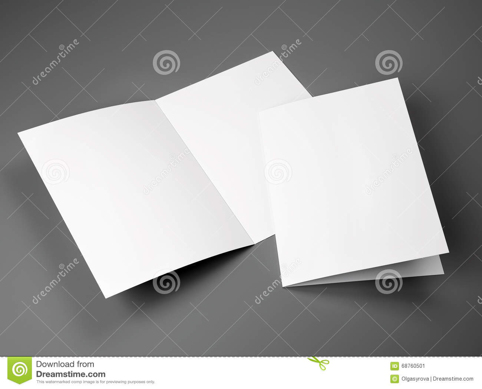 Plantilla en blanco del tamaño doblado del folleto A4