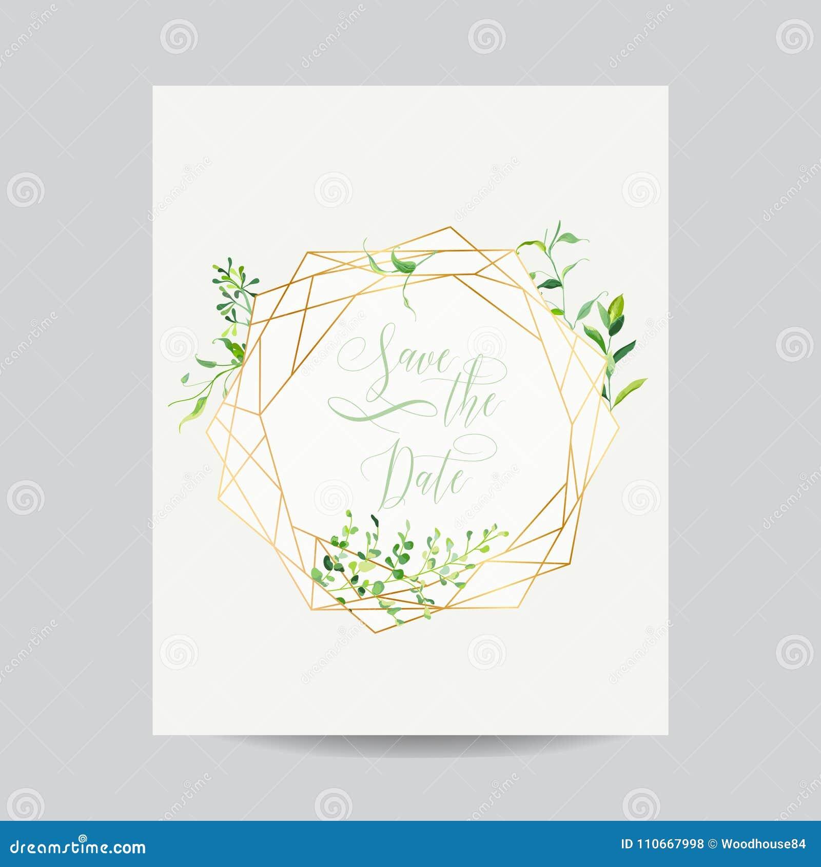Plantilla Floral De La Invitación De La Boda Ahorre El Capítulo De ...