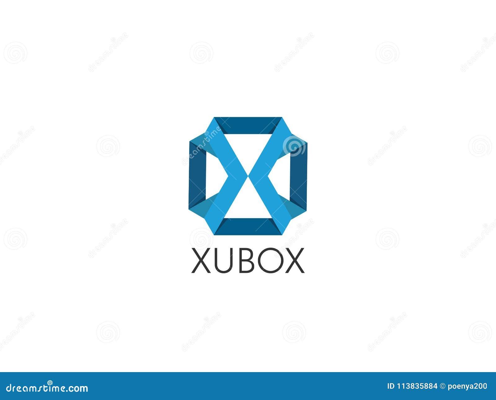 Plantilla Geométrica Abstracta Del Logotipo De La Letra X Con El ...