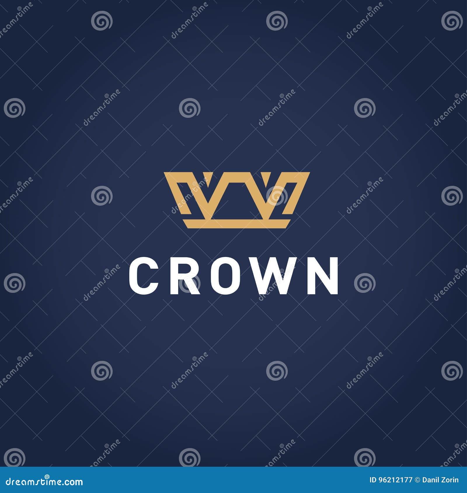Plantilla geométrica del diseño del logotipo del extracto de la corona del vintage Icono del concepto del logotipo del símbolo de