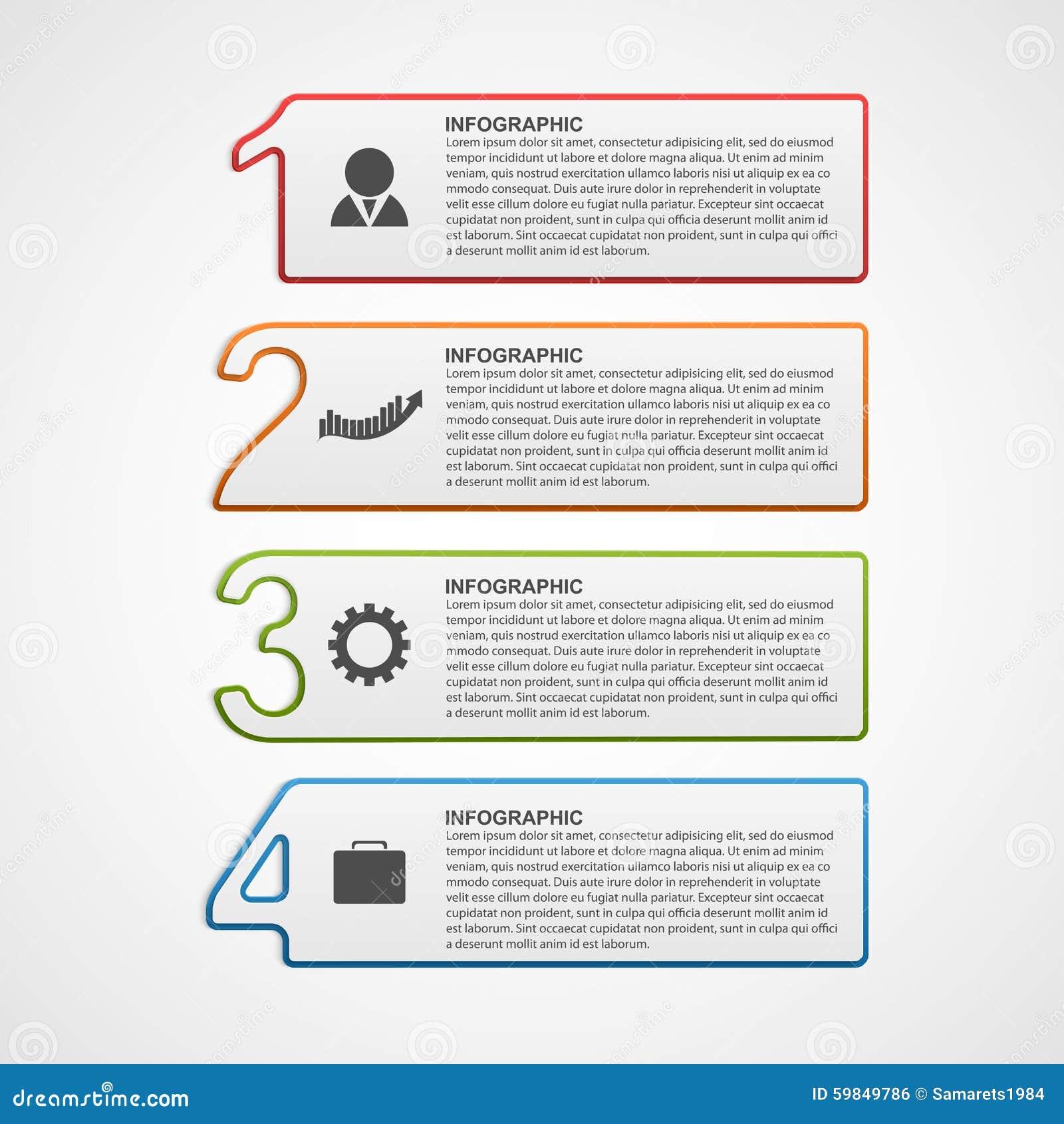 Plantilla infographic creativa de las opciones del número