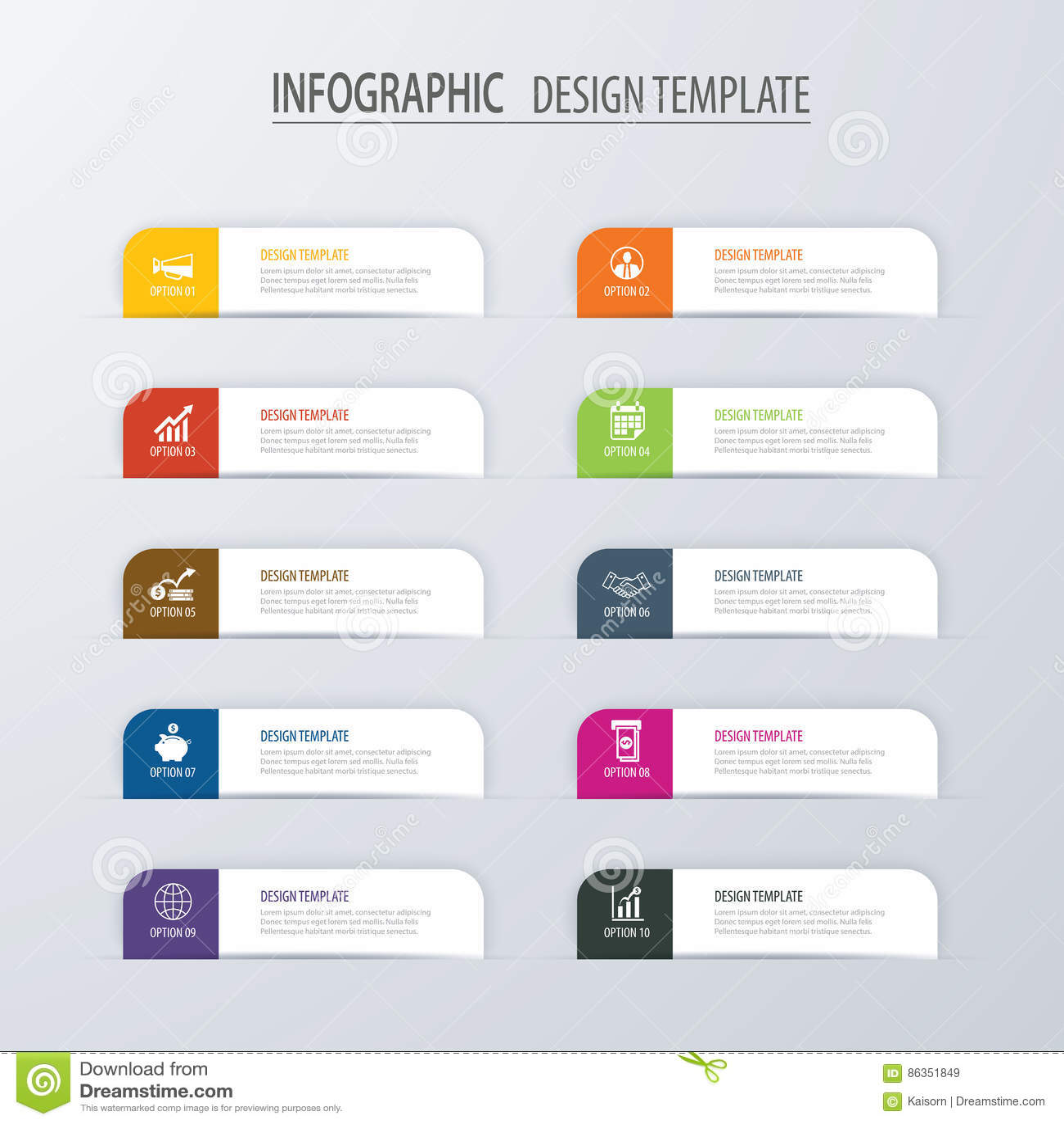 Plantilla Infographic De Las Opciones Del índice Moderno De La ...