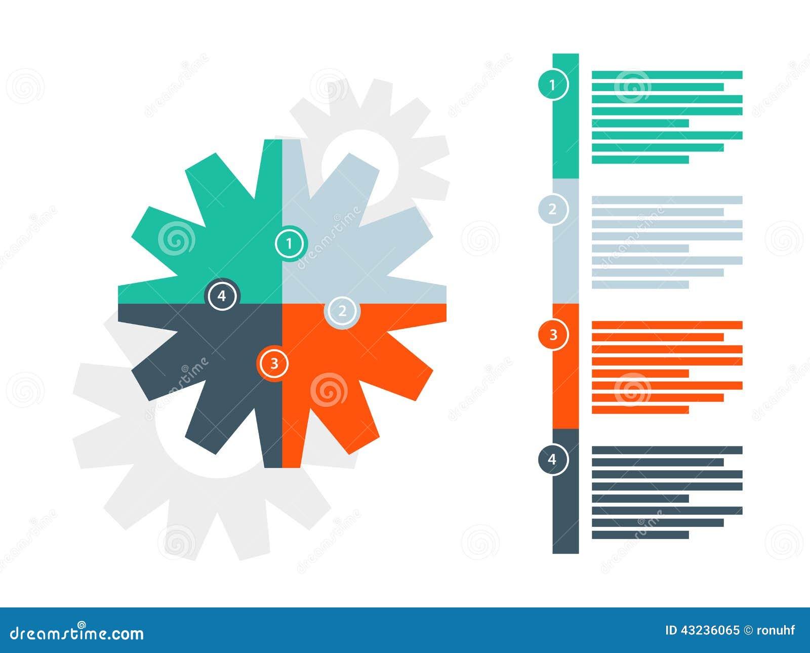 Plantilla Infographic Del Diagrama Del Rompecabezas De La ...